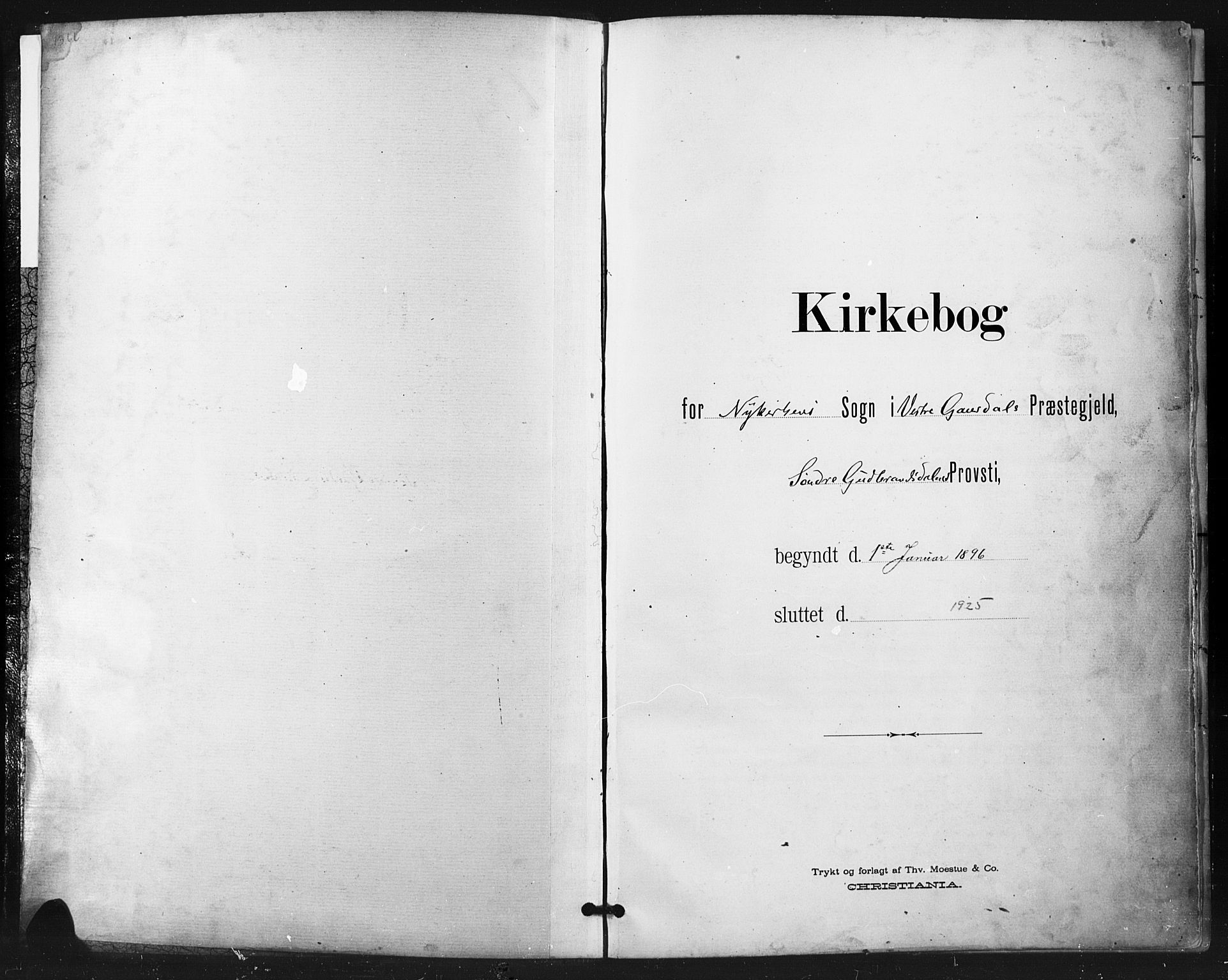 SAH, Vestre Gausdal prestekontor, Klokkerbok nr. 3, 1896-1925