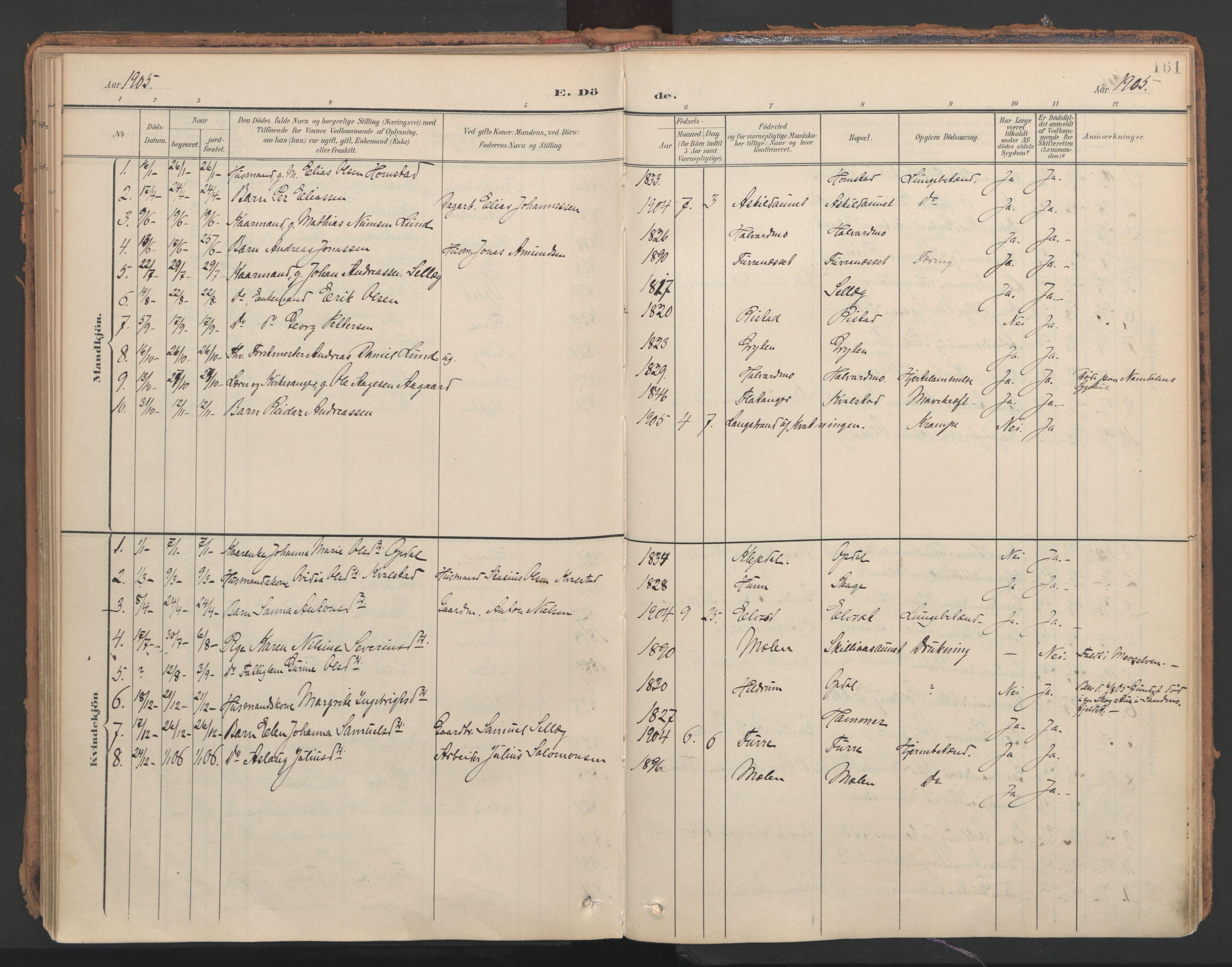 SAT, Ministerialprotokoller, klokkerbøker og fødselsregistre - Nord-Trøndelag, 766/L0564: Ministerialbok nr. 767A02, 1900-1932, s. 161