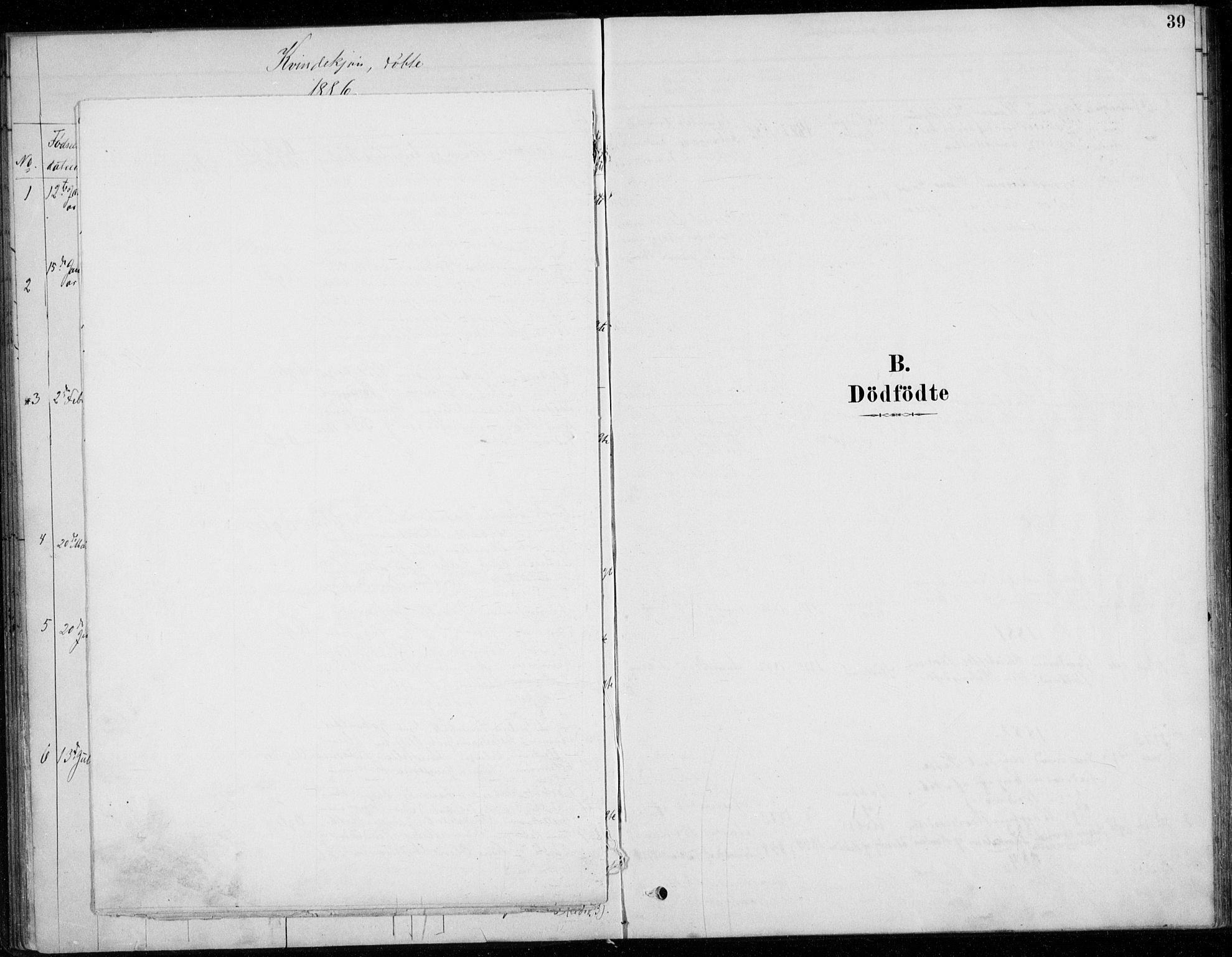 SAO, Fet prestekontor Kirkebøker, G/Gb/L0002: Klokkerbok nr. II 2, 1878-1911, s. 39