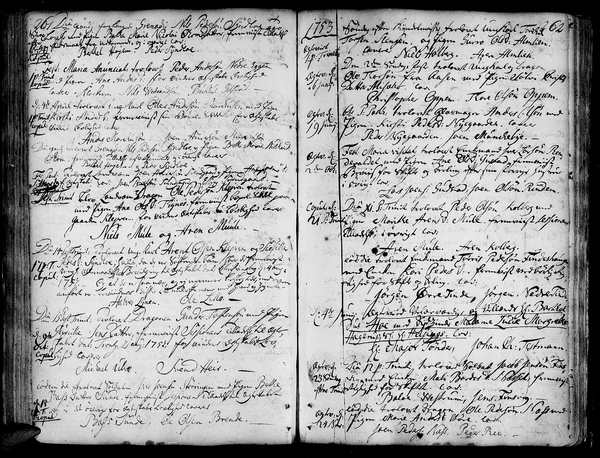SAT, Ministerialprotokoller, klokkerbøker og fødselsregistre - Nord-Trøndelag, 717/L0141: Ministerialbok nr. 717A01, 1747-1803, s. 261-262