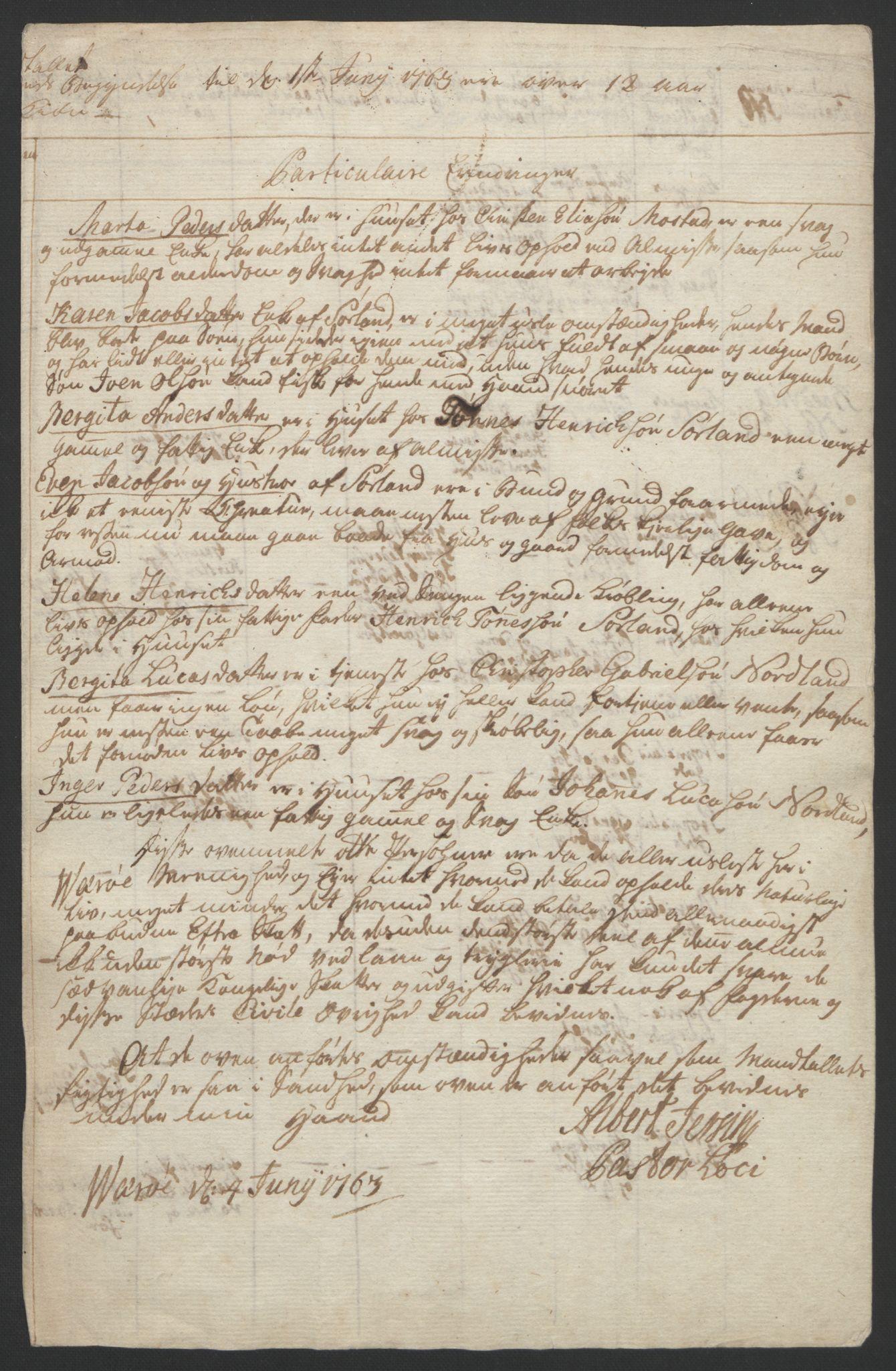 RA, Rentekammeret inntil 1814, Reviderte regnskaper, Fogderegnskap, R67/L4747: Ekstraskatten Vesterålen, Andenes og Lofoten, 1762-1766, s. 160