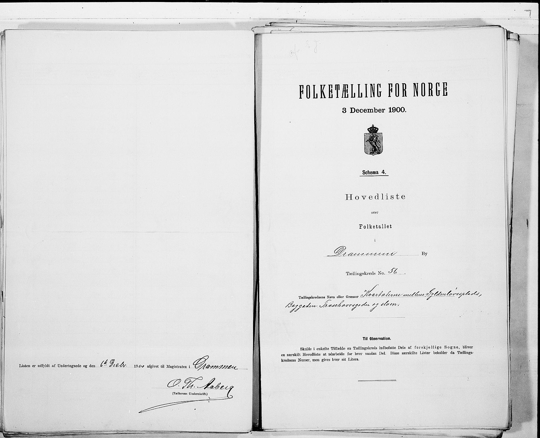 RA, Folketelling 1900 for 0602 Drammen kjøpstad, 1900, s. 117