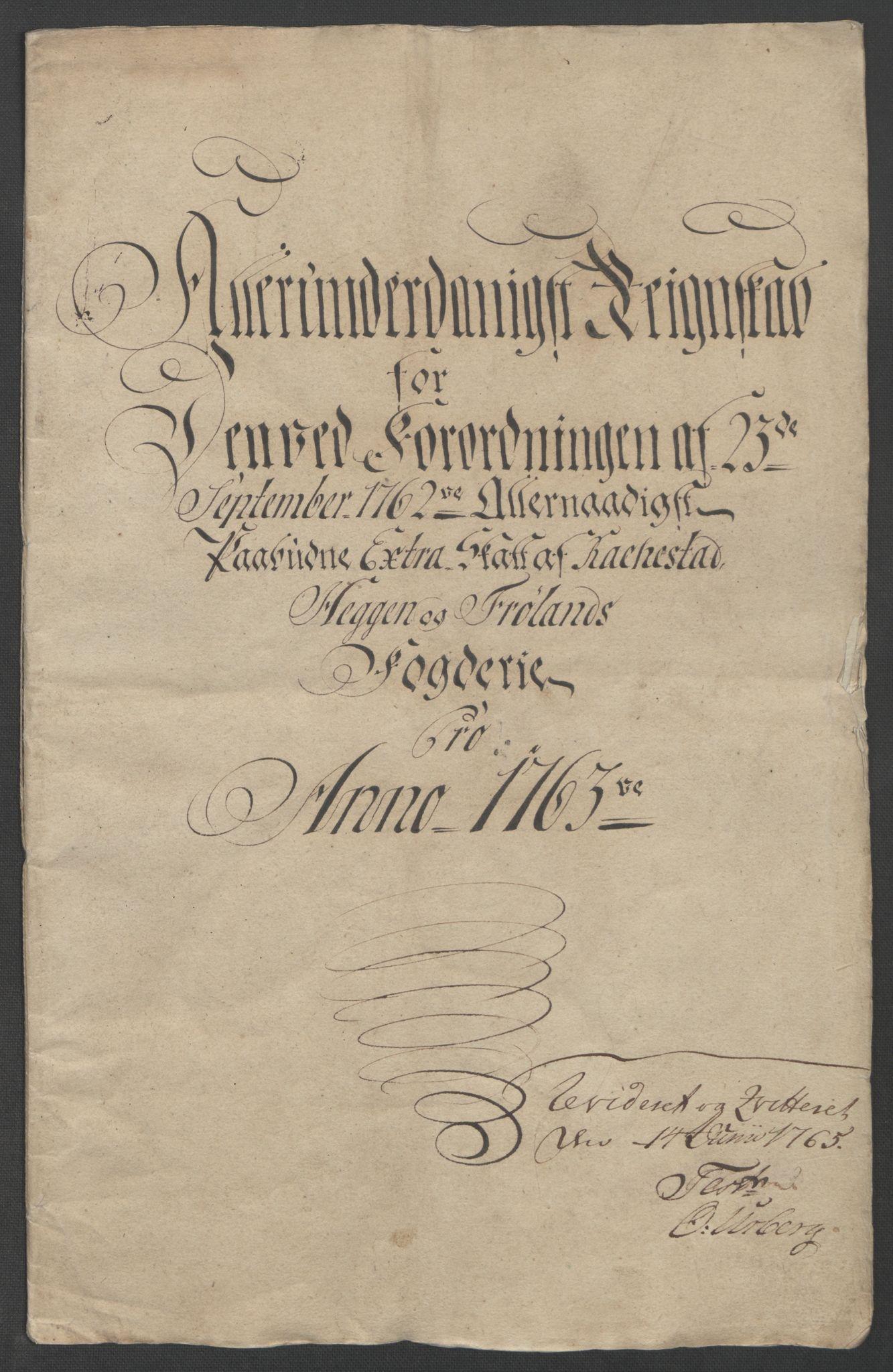 RA, Rentekammeret inntil 1814, Reviderte regnskaper, Fogderegnskap, R07/L0413: Ekstraskatten Rakkestad, Heggen og Frøland, 1762-1772, s. 42