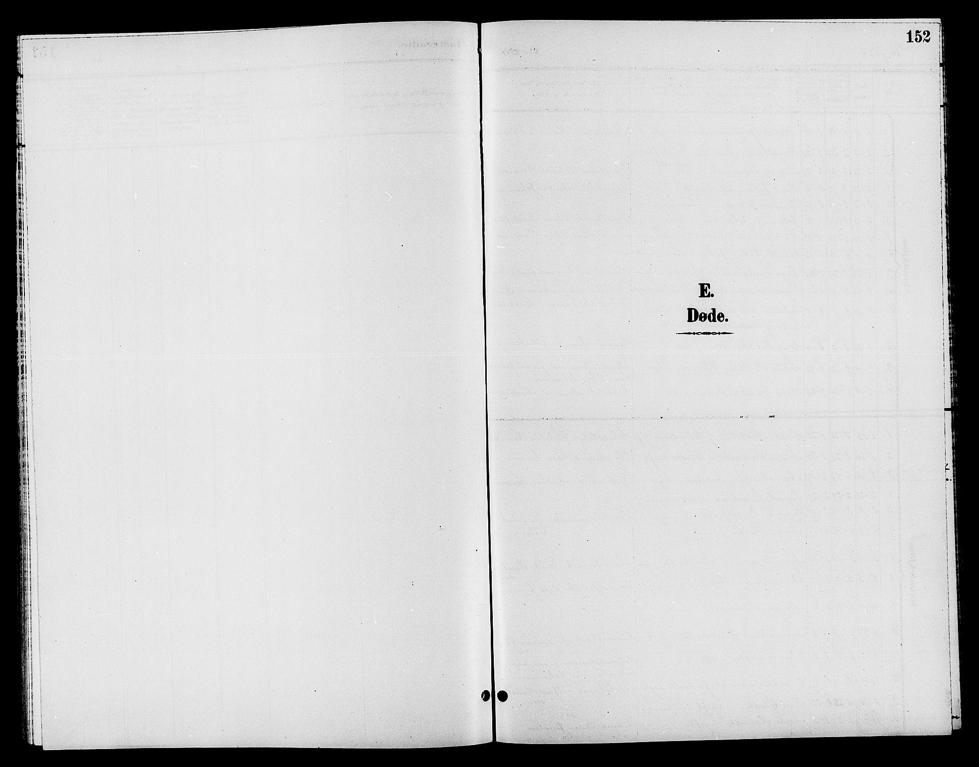 SAH, Jevnaker prestekontor, Klokkerbok nr. 2, 1896-1906, s. 152