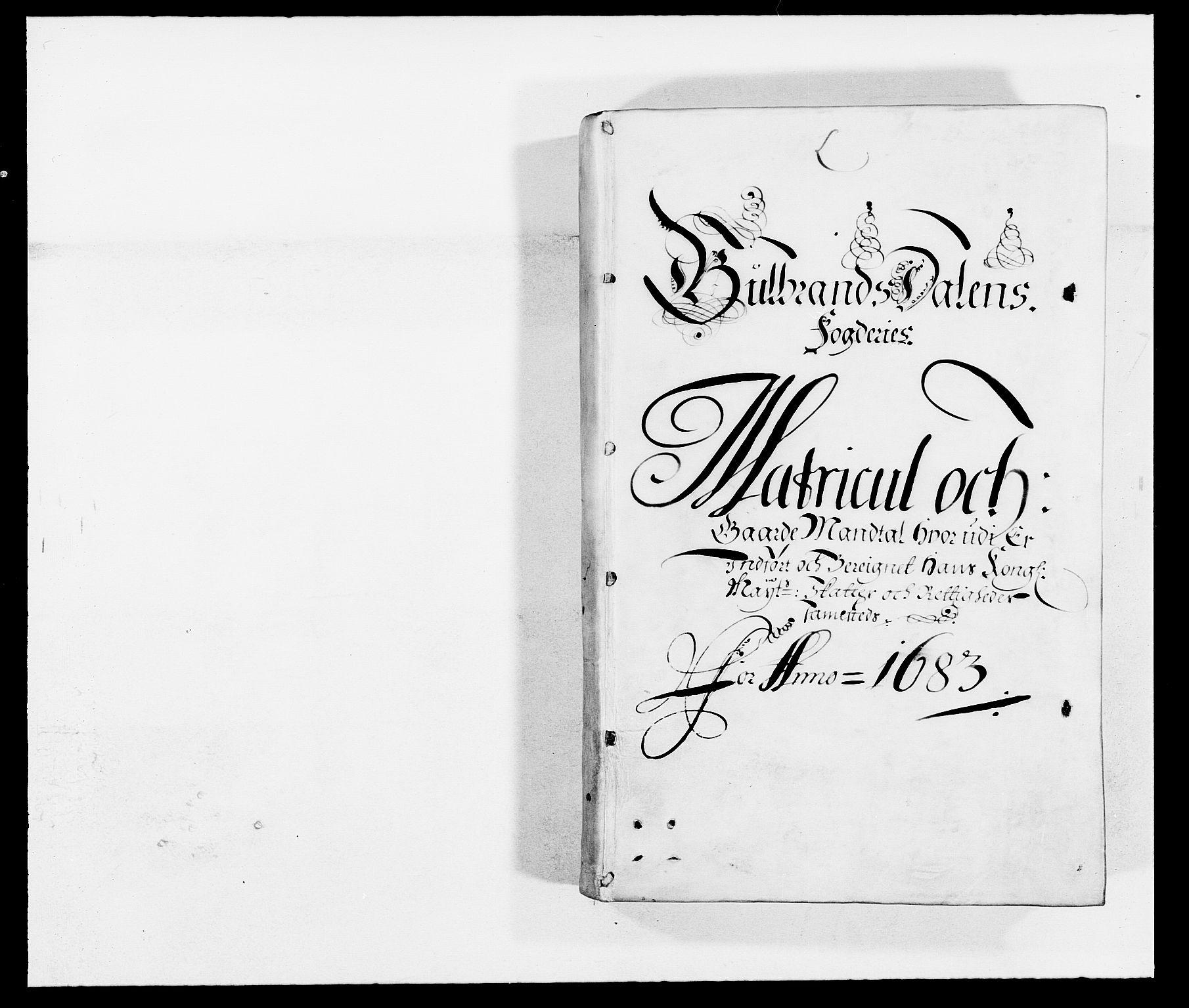 RA, Rentekammeret inntil 1814, Reviderte regnskaper, Fogderegnskap, R17/L1158: Fogderegnskap Gudbrandsdal, 1682-1689, s. 60