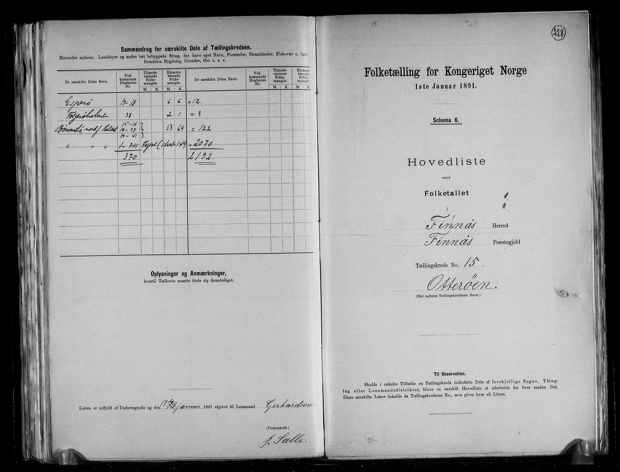 RA, Folketelling 1891 for 1218 Finnås herred, 1891, s. 36