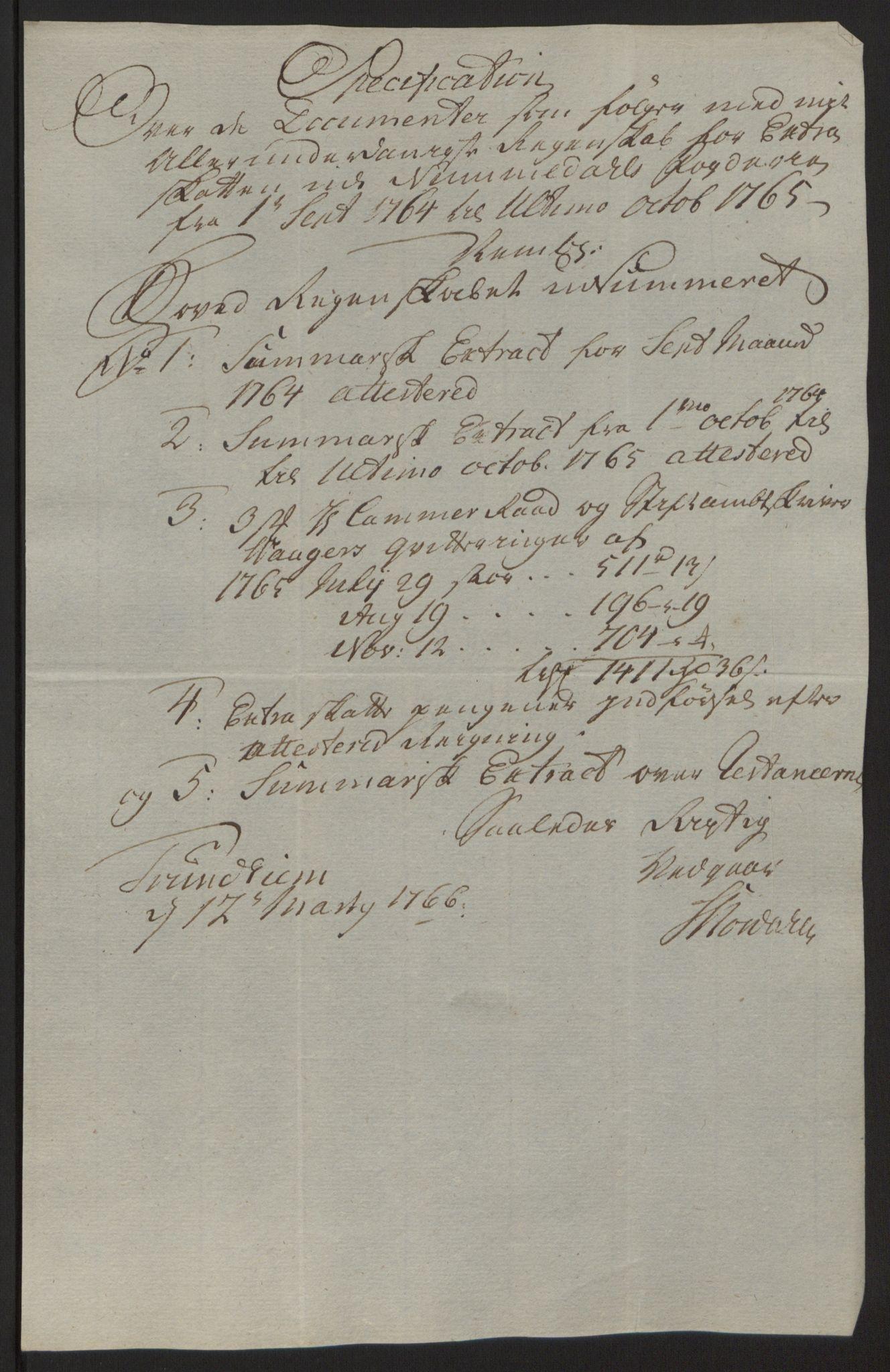 RA, Rentekammeret inntil 1814, Reviderte regnskaper, Fogderegnskap, R64/L4502: Ekstraskatten Namdal, 1762-1772, s. 201