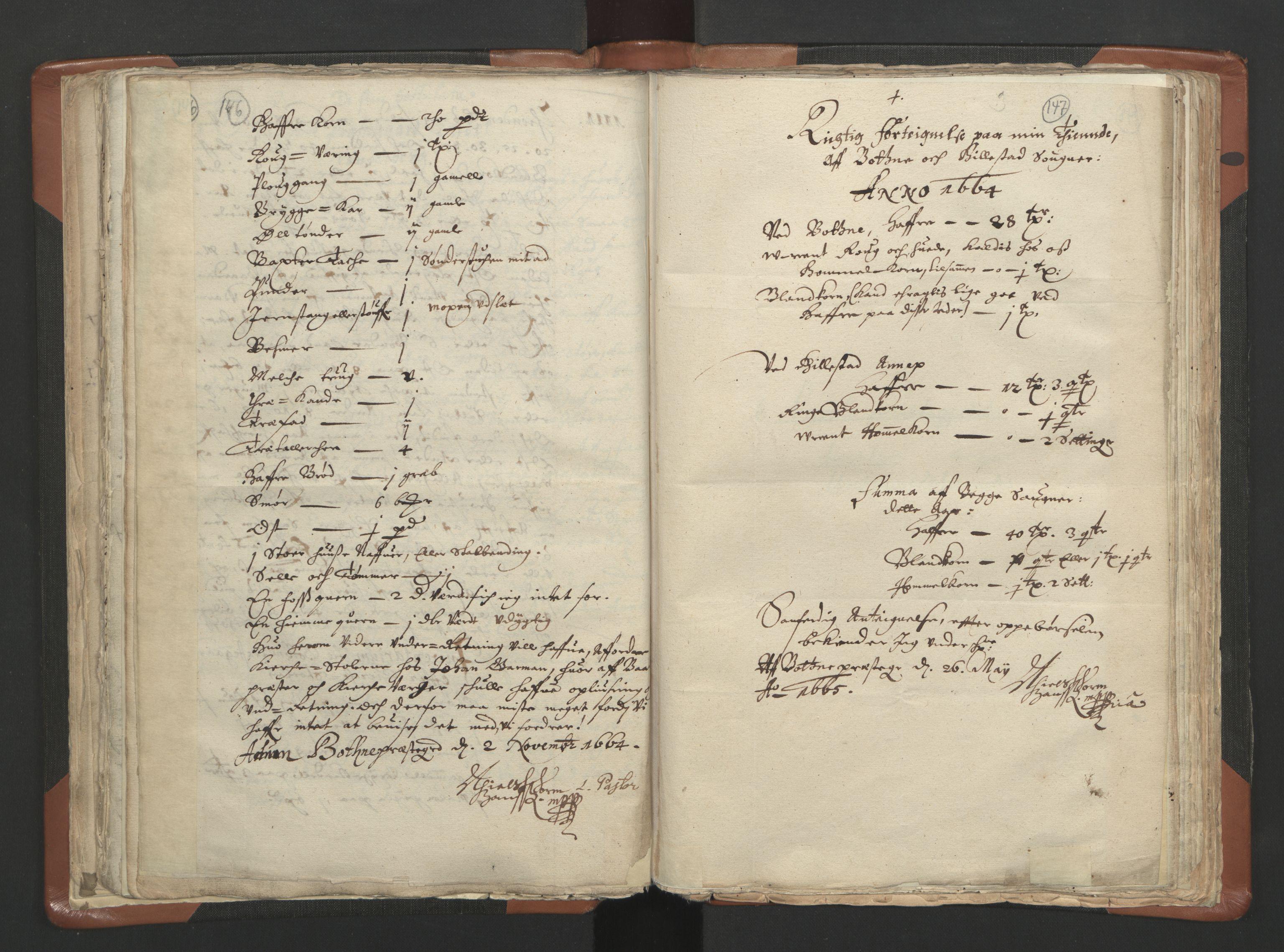 RA, Sogneprestenes manntall 1664-1666, nr. 10: Tønsberg prosti, 1664-1666, s. 146-147