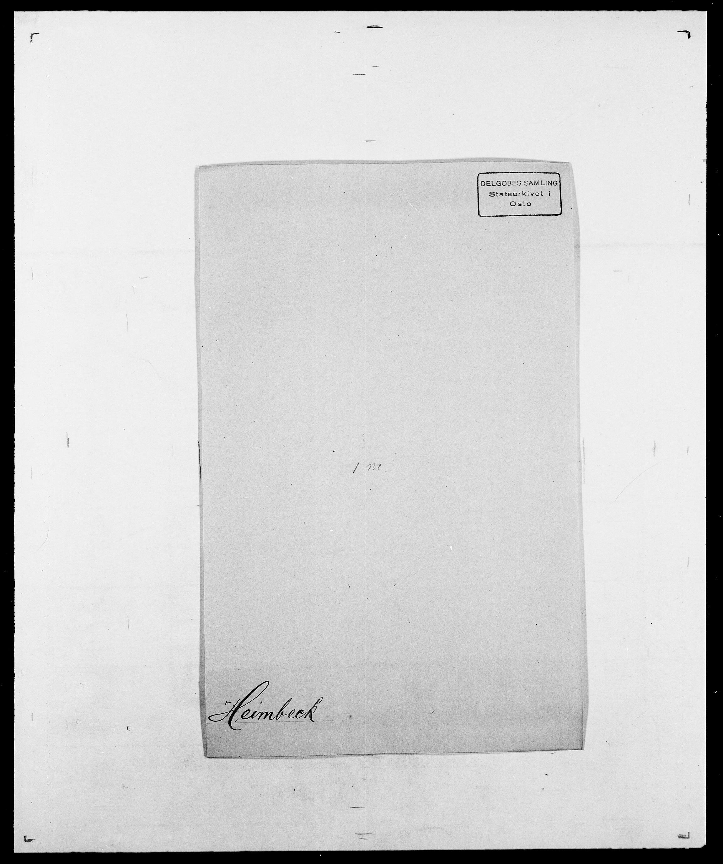 SAO, Delgobe, Charles Antoine - samling, D/Da/L0016: Hamborg - Hektoen, s. 833