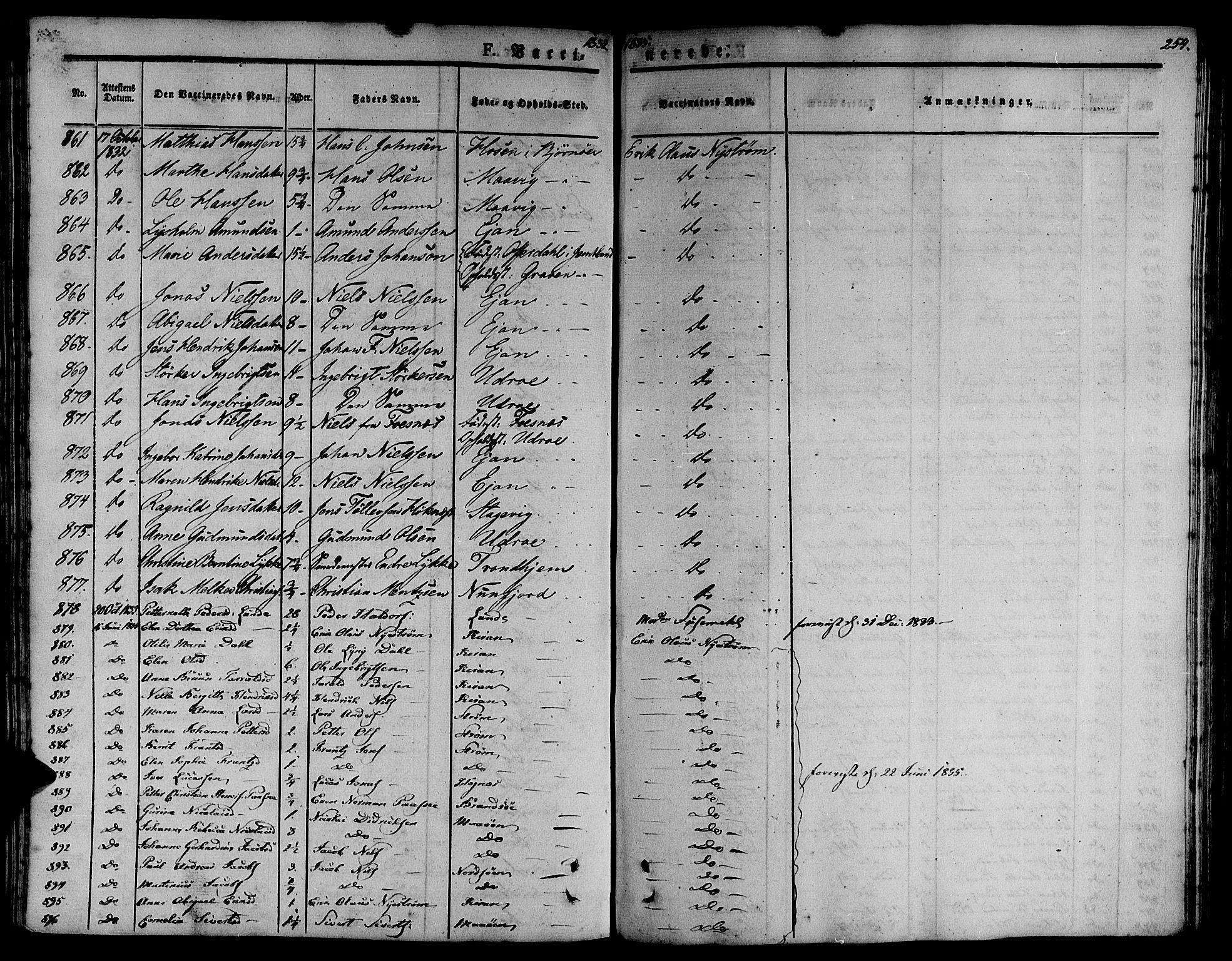 SAT, Ministerialprotokoller, klokkerbøker og fødselsregistre - Sør-Trøndelag, 657/L0703: Ministerialbok nr. 657A04, 1831-1846, s. 254