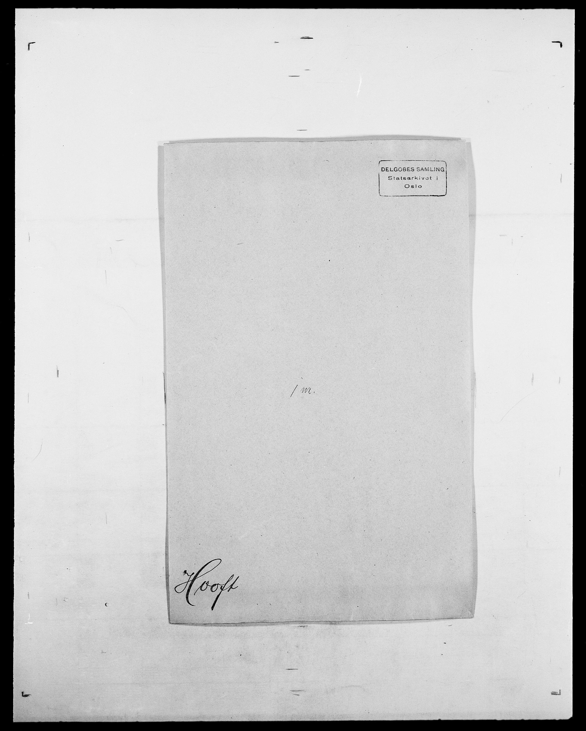 SAO, Delgobe, Charles Antoine - samling, D/Da/L0018: Hoch - Howert, s. 899