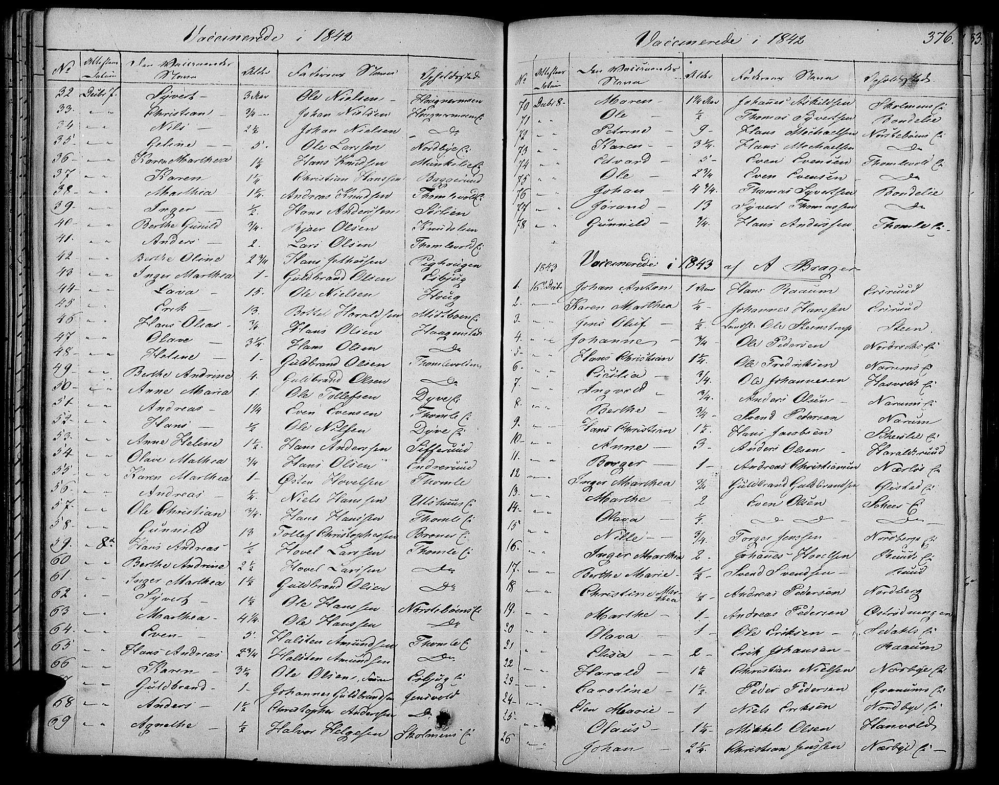 SAH, Land prestekontor, Ministerialbok nr. 8, 1830-1846, s. 376