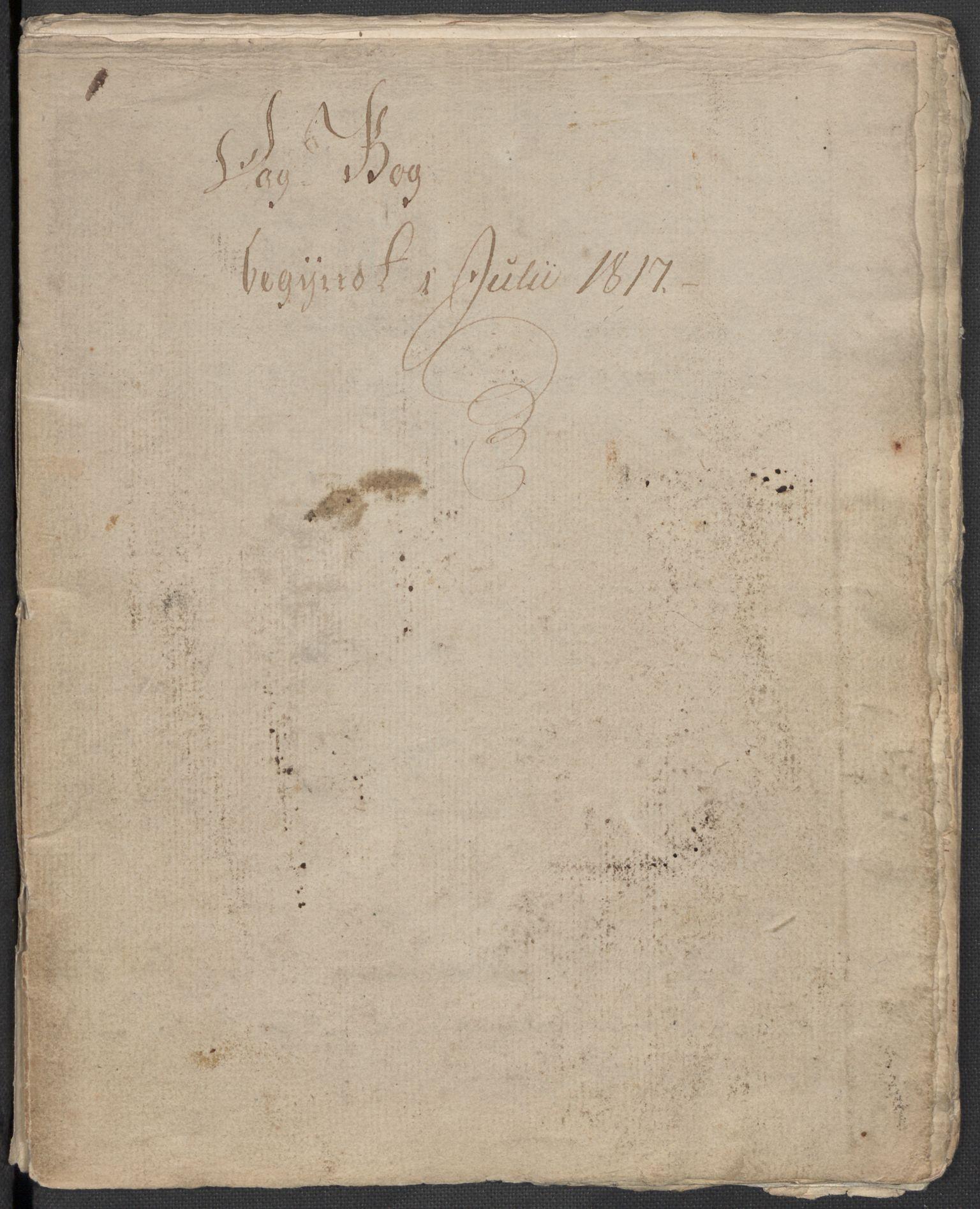 RA, Holck, Meidell, Hartvig, F/L0001: (Kassett) Dagbøker ført av Ole Elias v.Holck, 1798-1842, s. 398