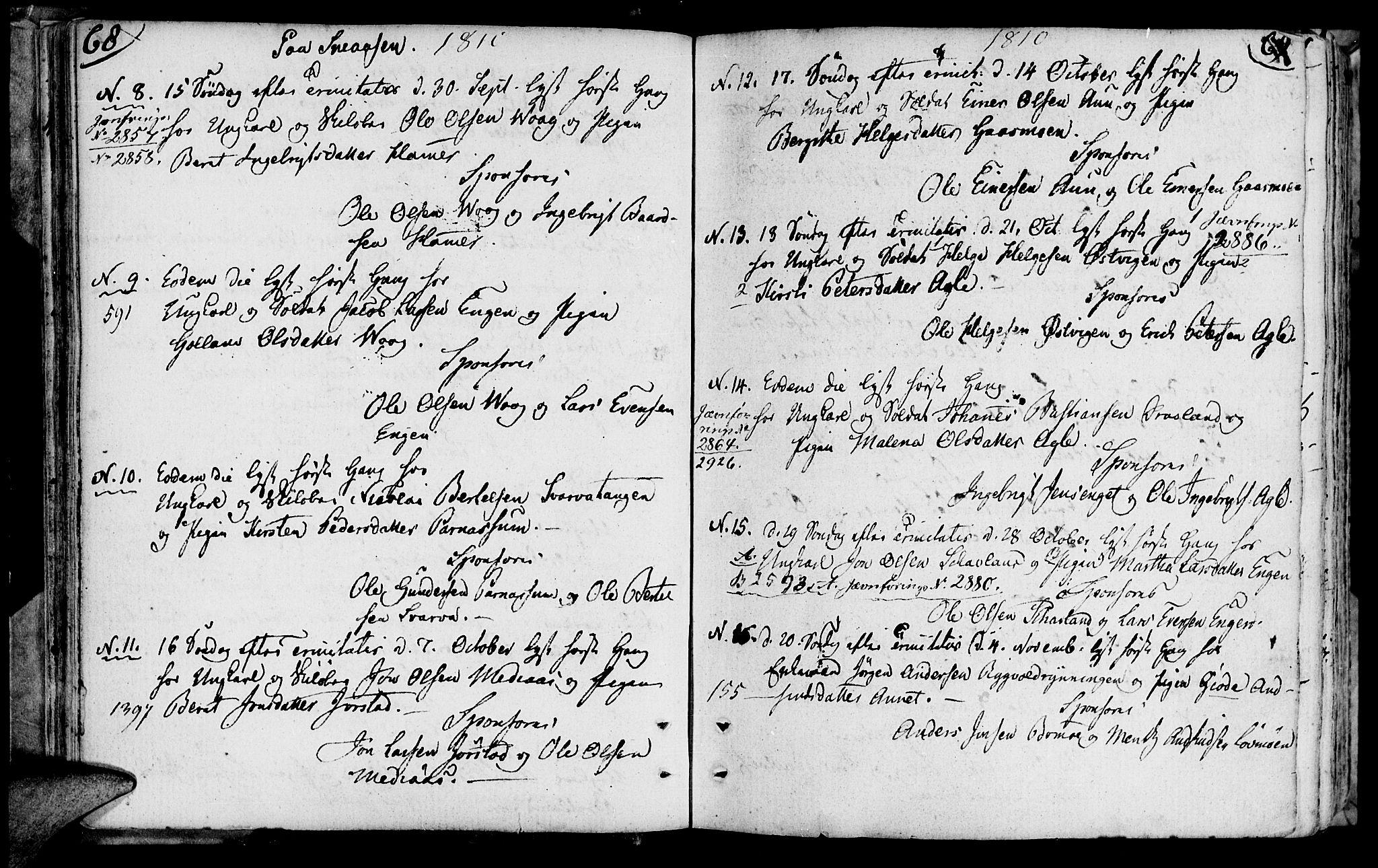SAT, Ministerialprotokoller, klokkerbøker og fødselsregistre - Nord-Trøndelag, 749/L0468: Ministerialbok nr. 749A02, 1787-1817, s. 68-69