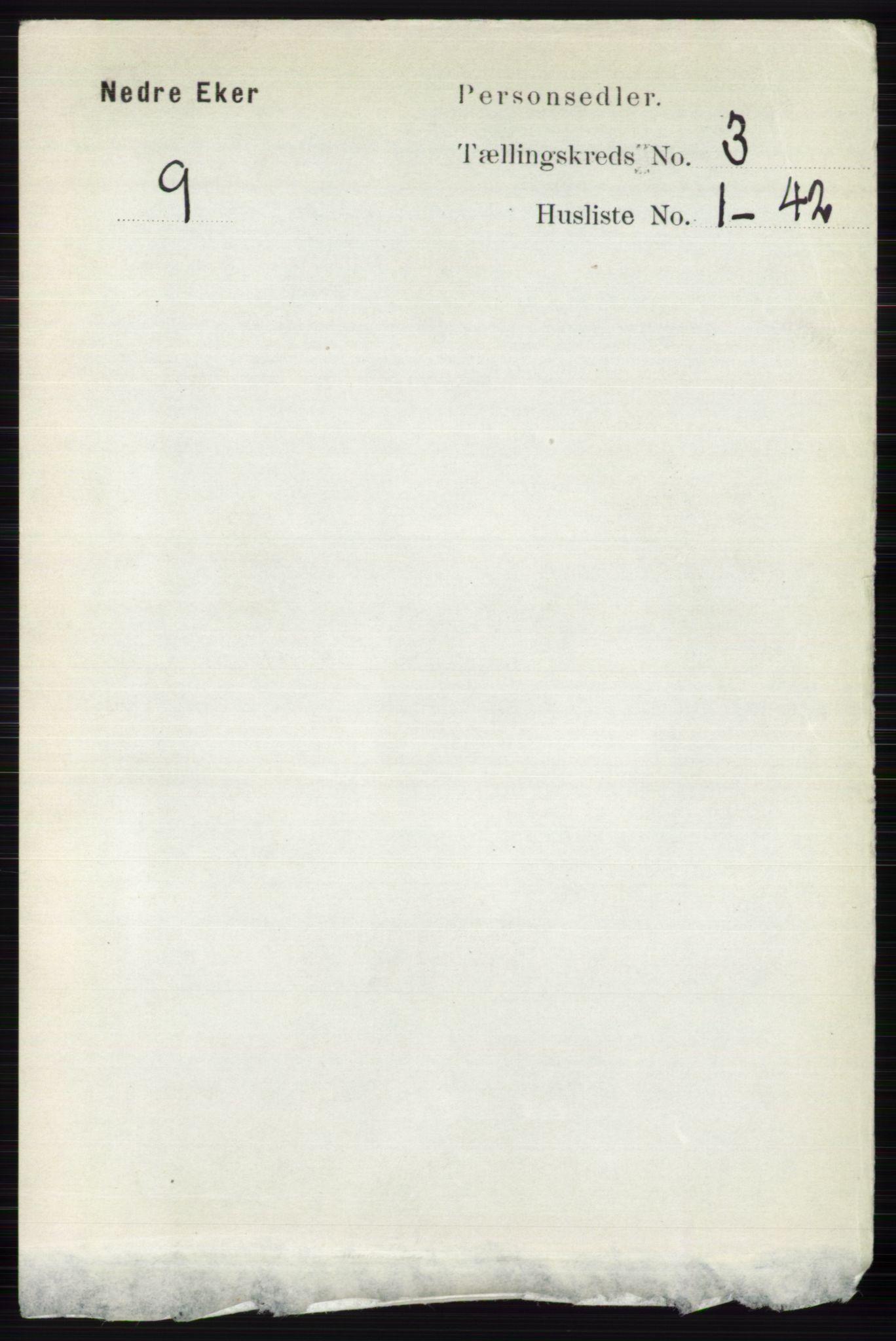 RA, Folketelling 1891 for 0625 Nedre Eiker herred, 1891, s. 1191