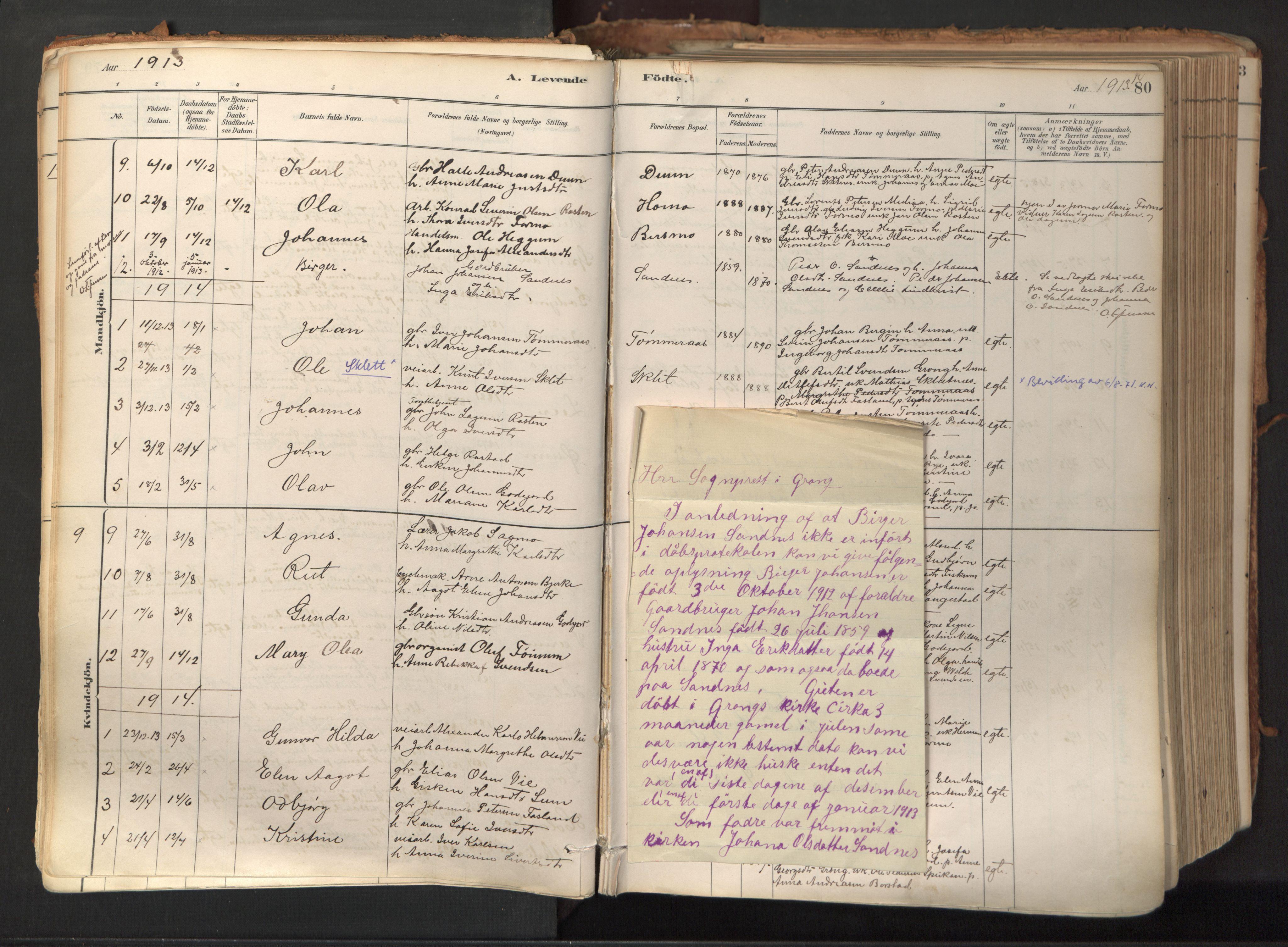 SAT, Ministerialprotokoller, klokkerbøker og fødselsregistre - Nord-Trøndelag, 758/L0519: Ministerialbok nr. 758A04, 1880-1926, s. 80