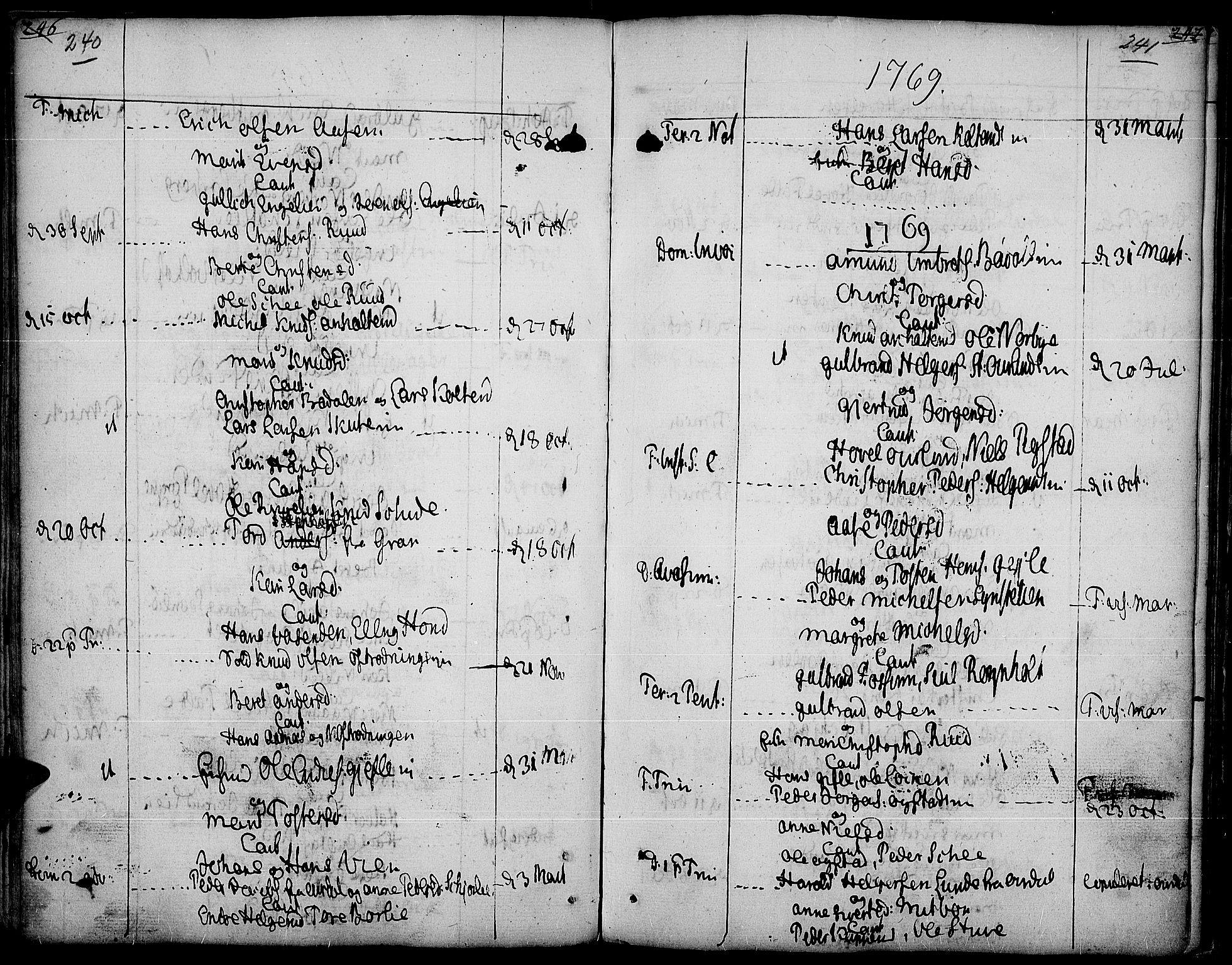 SAH, Land prestekontor, Ministerialbok nr. 5, 1765-1784, s. 240-241