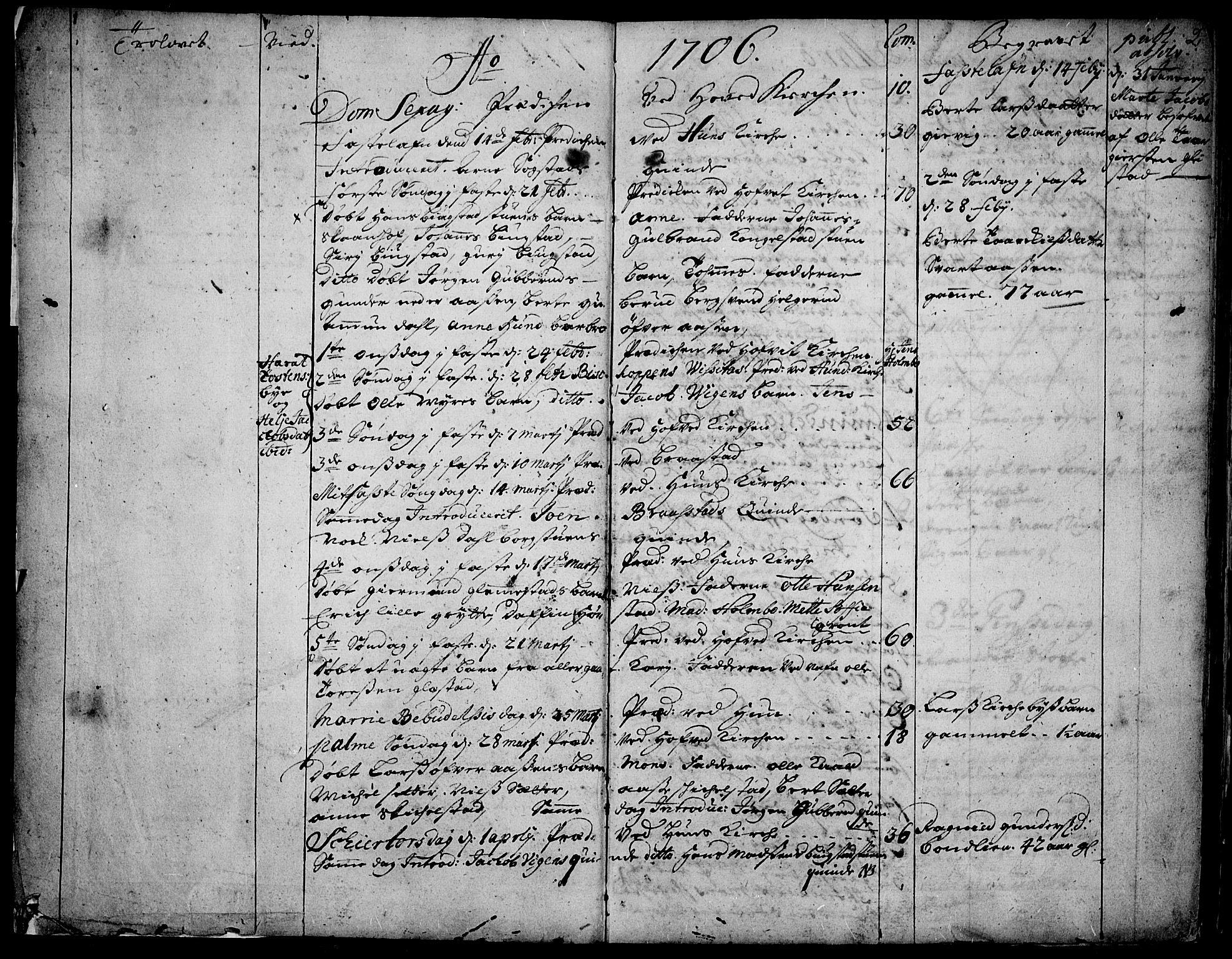 SAH, Vardal prestekontor, H/Ha/Haa/L0001: Ministerialbok nr. 1, 1706-1748, s. 2