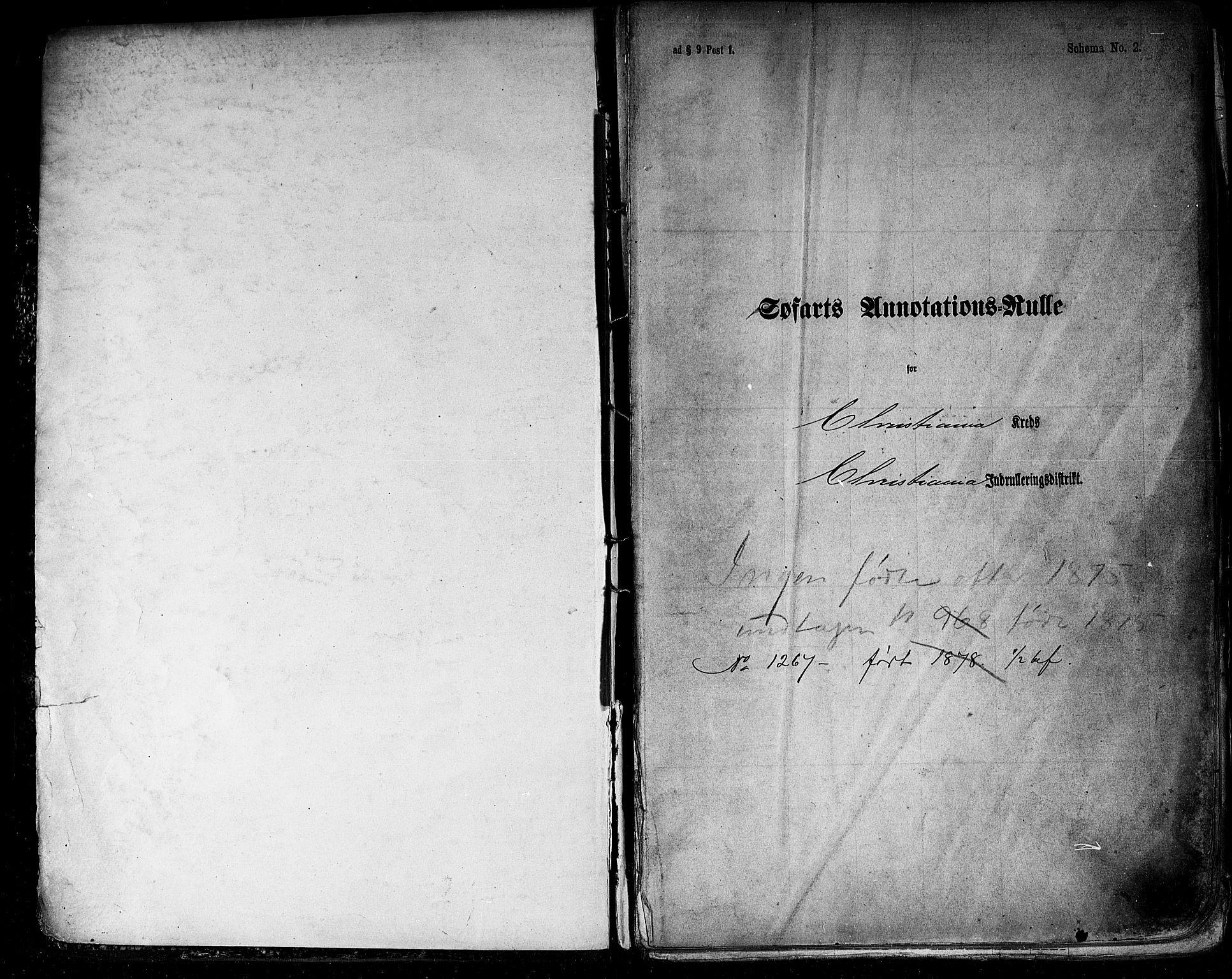 SAO, Oslo mønstringskontor, F/Fc/Fca/L0001: Annotasjonsrulle, 1866-1881, s. upaginert