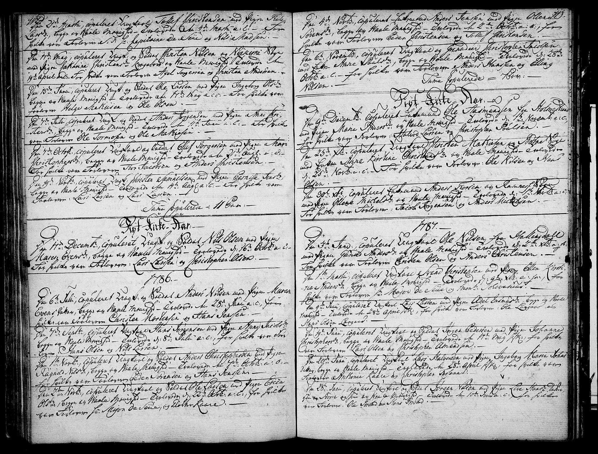 SAKO, Våle kirkebøker, F/Fa/L0005: Ministerialbok nr. I 5, 1773-1808, s. 112-113