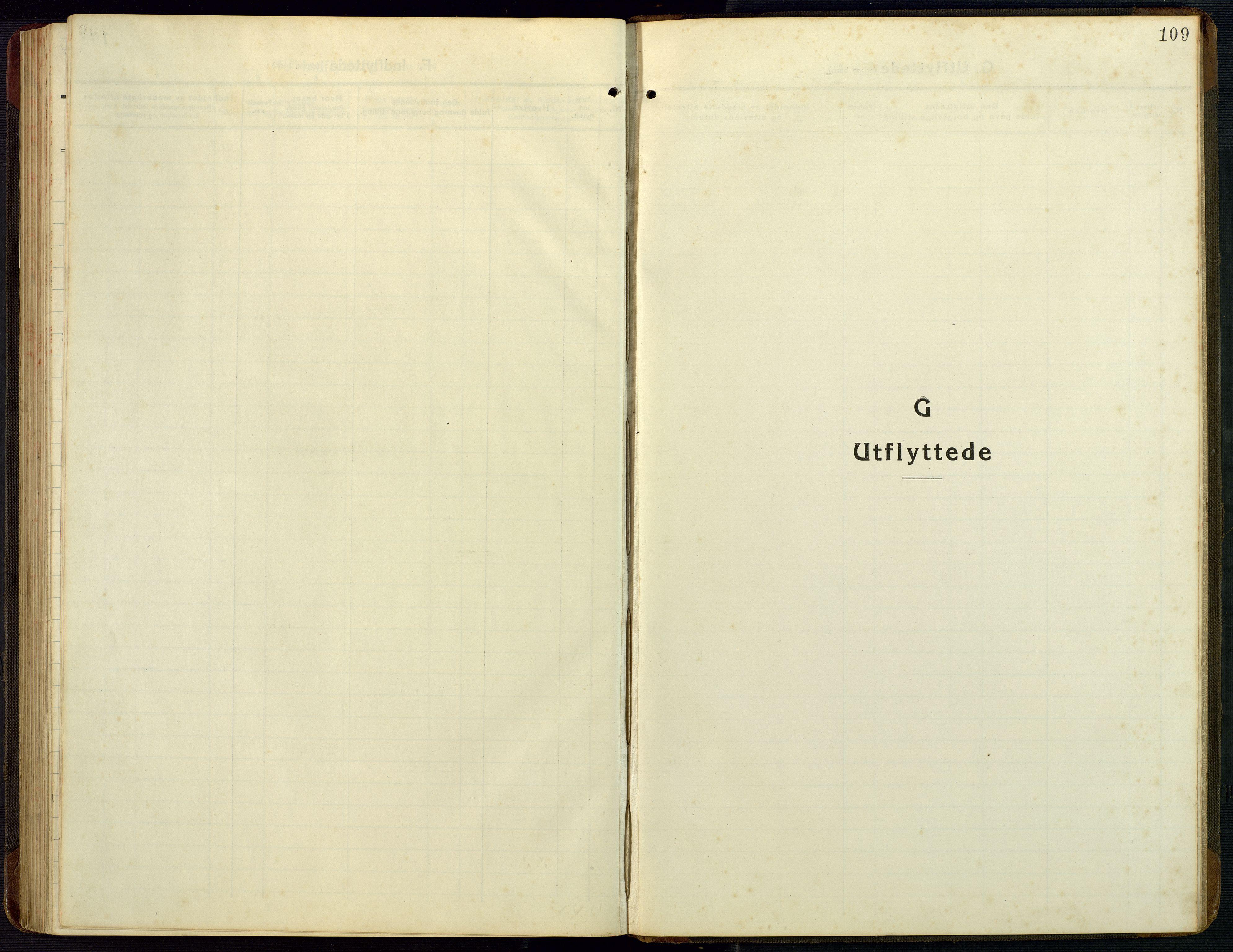 SAK, Bygland sokneprestkontor, F/Fb/Fba/L0003: Klokkerbok nr. B 3, 1920-1974, s. 109