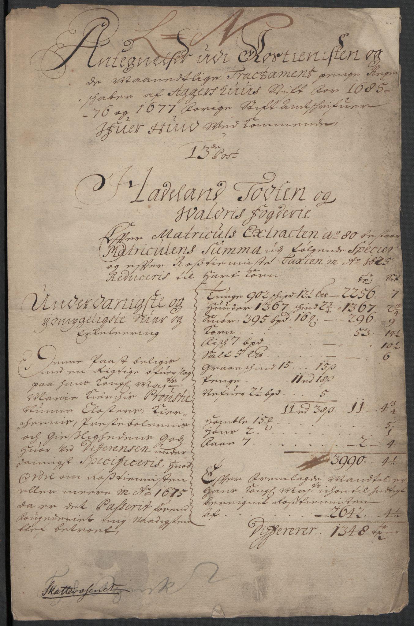 RA, Rentekammeret inntil 1814, Reviderte regnskaper, Fogderegnskap, R18/L1271: Fogderegnskap Hadeland, Toten og Valdres, 1678, s. 134