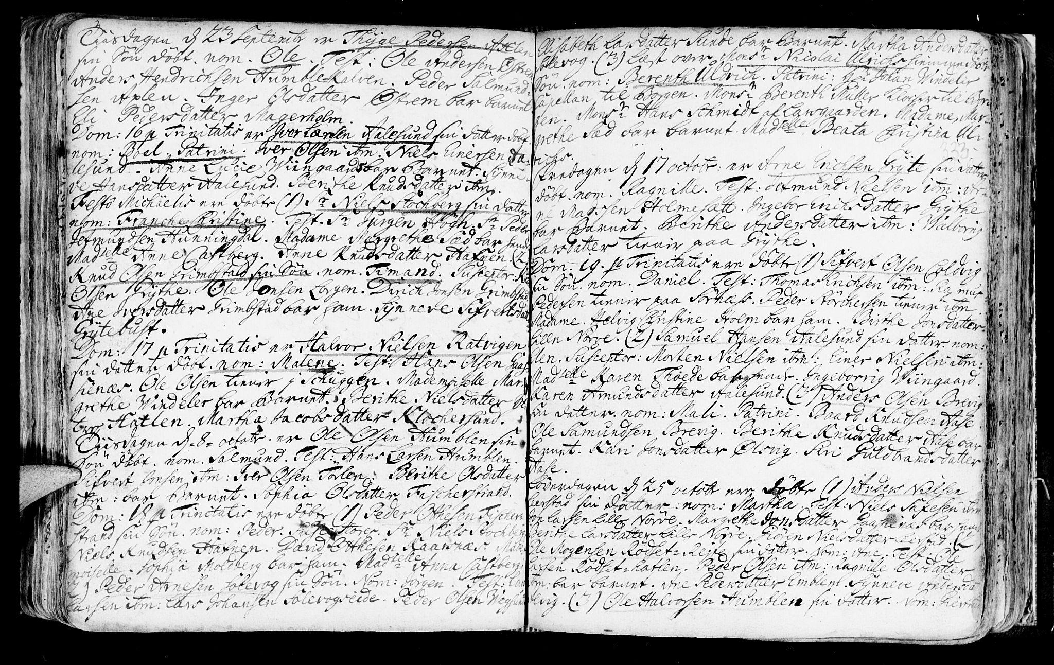 SAT, Ministerialprotokoller, klokkerbøker og fødselsregistre - Møre og Romsdal, 528/L0390: Ministerialbok nr. 528A01, 1698-1739, s. 332-333