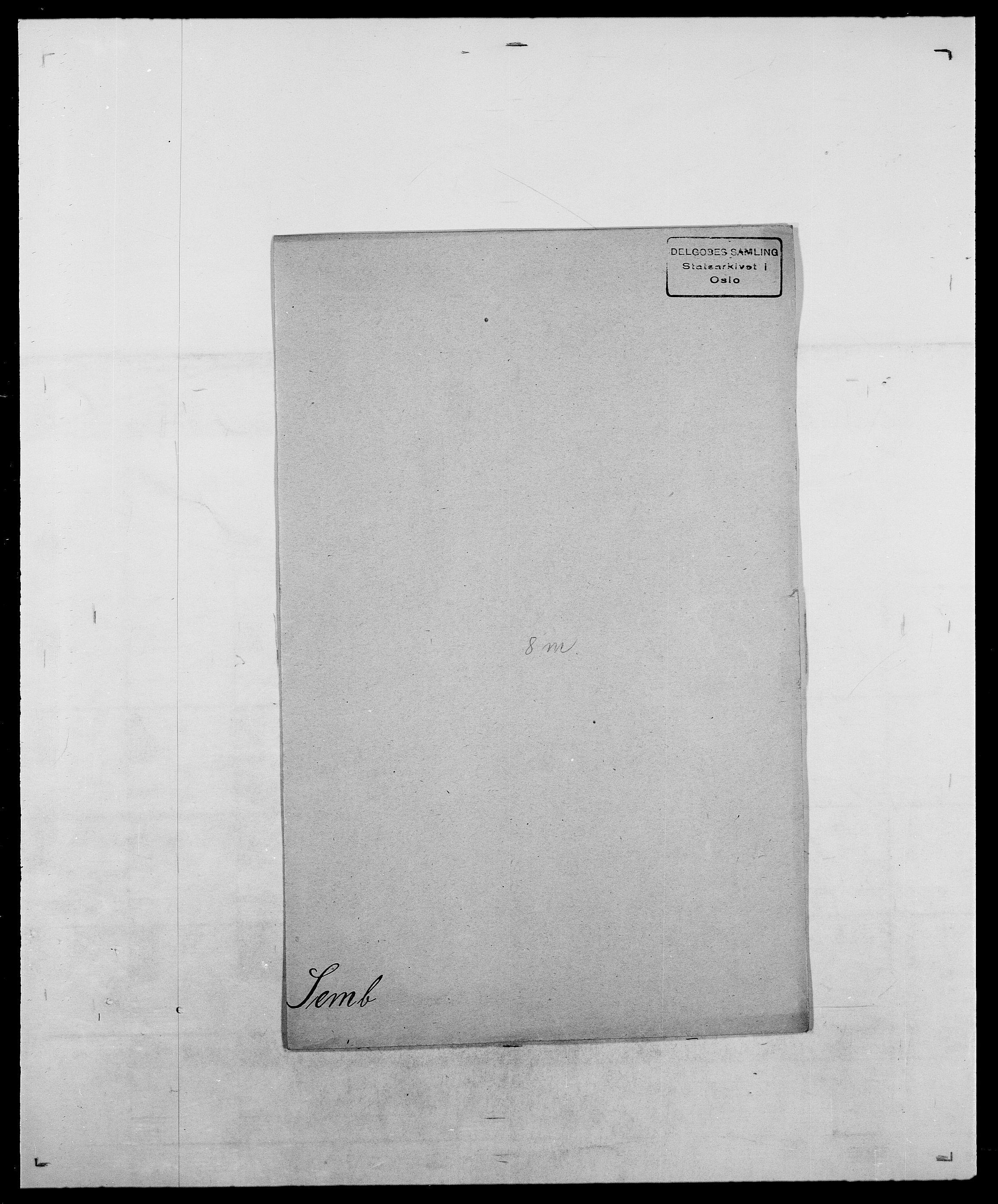 SAO, Delgobe, Charles Antoine - samling, D/Da/L0035: Schnabel - sjetman, s. 696