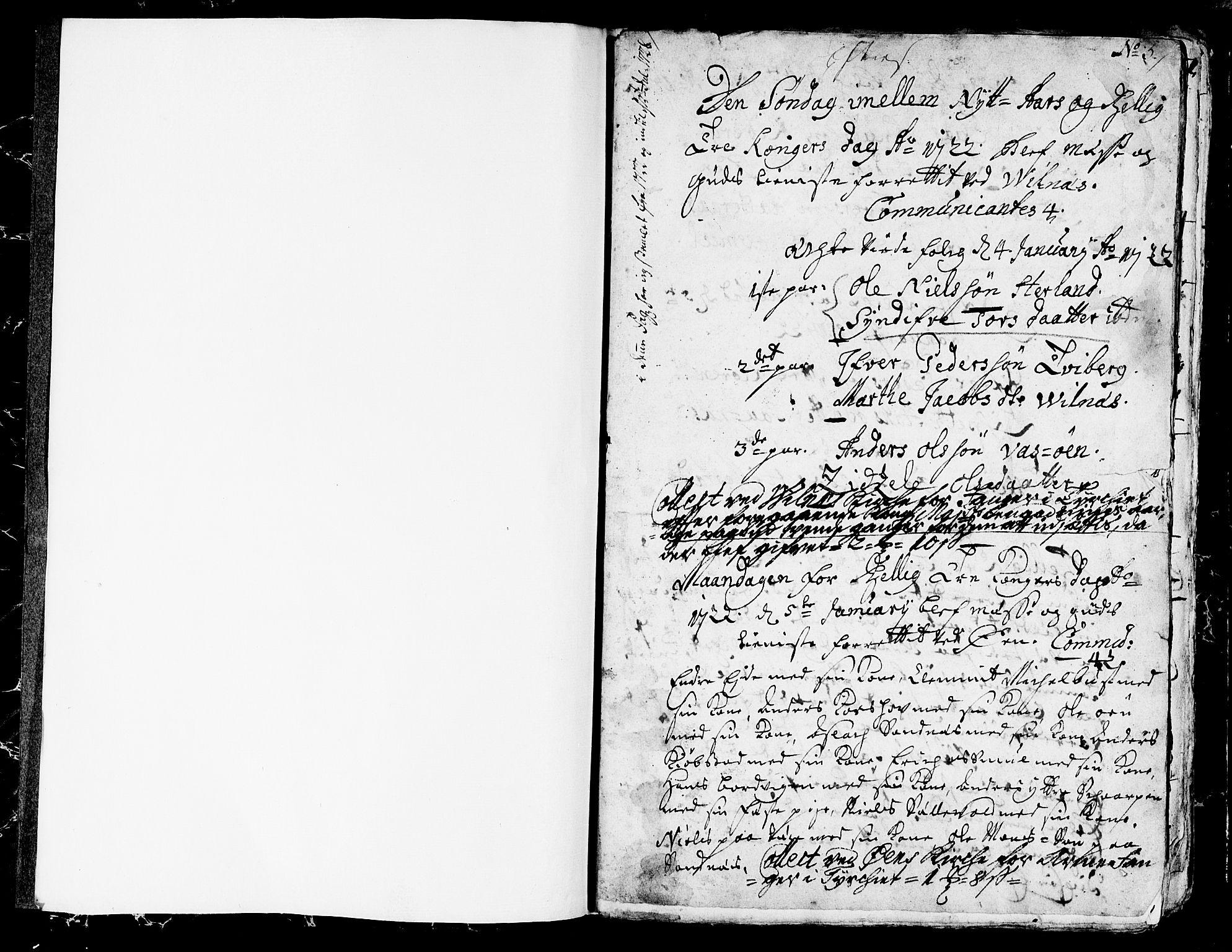 SAB, Askvoll Sokneprestembete, Ministerialbok nr. A 5, 1722-1733, s. 1