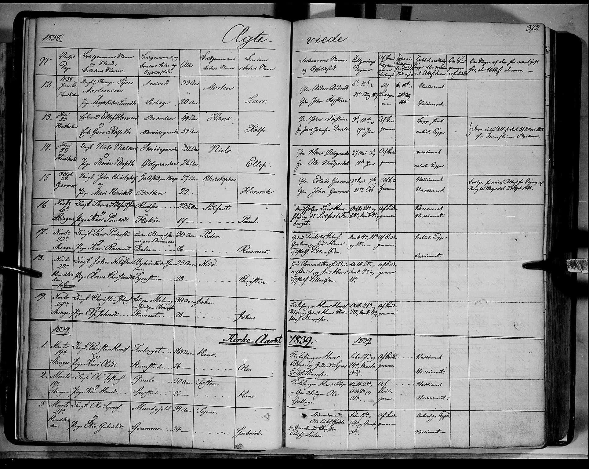 SAH, Lom prestekontor, K/L0006: Ministerialbok nr. 6B, 1837-1863, s. 372