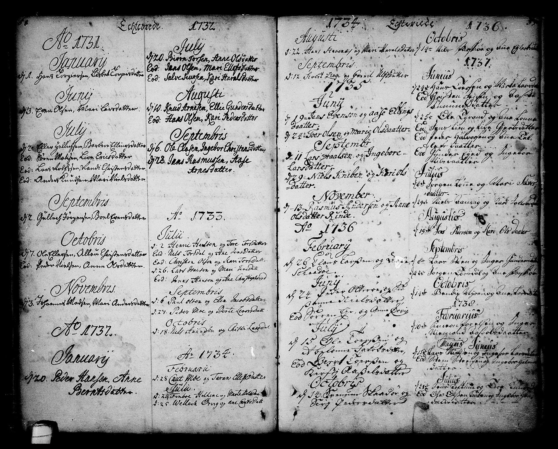 SAKO, Sannidal kirkebøker, F/Fa/L0001: Ministerialbok nr. 1, 1702-1766, s. 58-59
