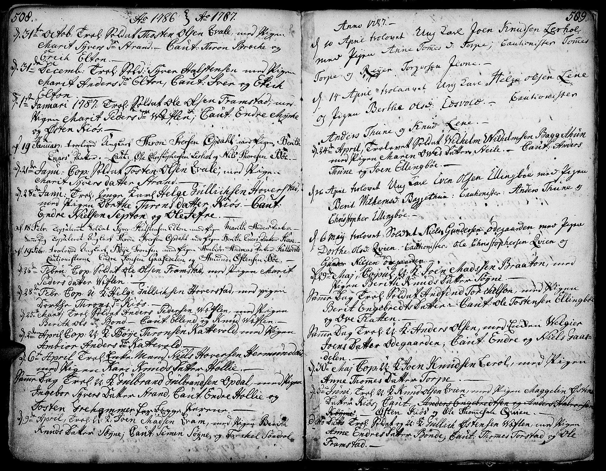 SAH, Vang prestekontor, Valdres, Ministerialbok nr. 1, 1730-1796, s. 508-509