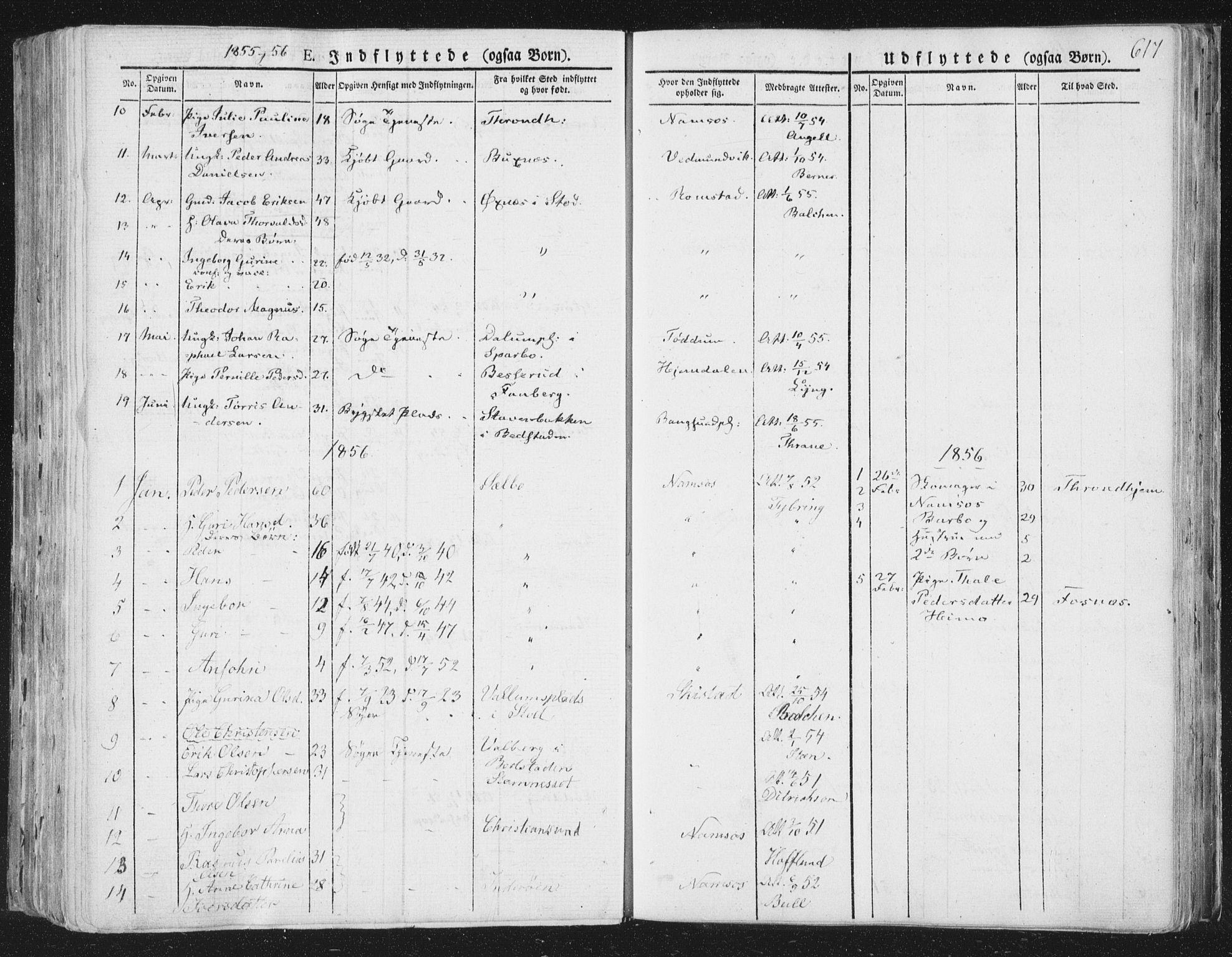SAT, Ministerialprotokoller, klokkerbøker og fødselsregistre - Nord-Trøndelag, 764/L0552: Ministerialbok nr. 764A07b, 1824-1865, s. 617