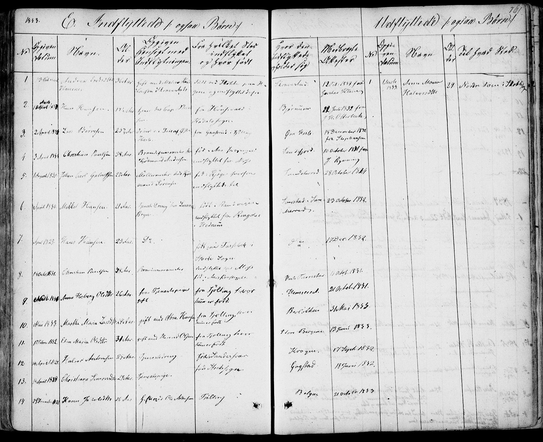 SAKO, Sandar kirkebøker, F/Fa/L0005: Ministerialbok nr. 5, 1832-1847, s. 760-761