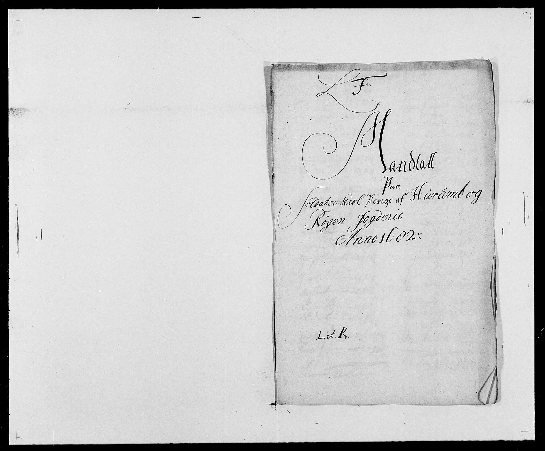 RA, Rentekammeret inntil 1814, Reviderte regnskaper, Fogderegnskap, R29/L1692: Fogderegnskap Hurum og Røyken, 1682-1687, s. 89