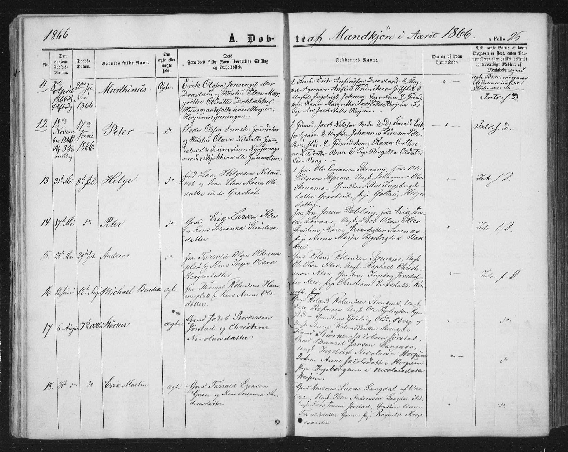 SAT, Ministerialprotokoller, klokkerbøker og fødselsregistre - Nord-Trøndelag, 749/L0472: Ministerialbok nr. 749A06, 1857-1873, s. 26