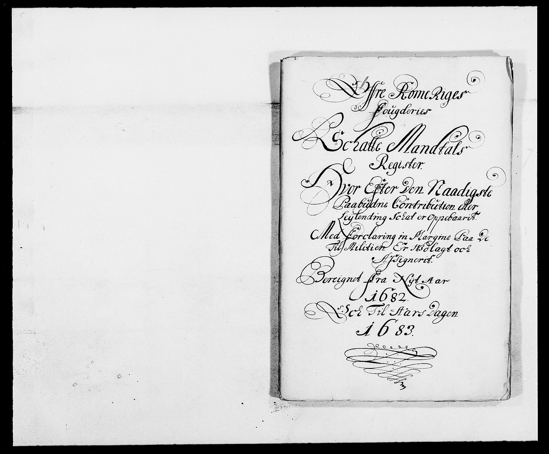 RA, Rentekammeret inntil 1814, Reviderte regnskaper, Fogderegnskap, R12/L0697: Fogderegnskap Øvre Romerike, 1682-1683, s. 97