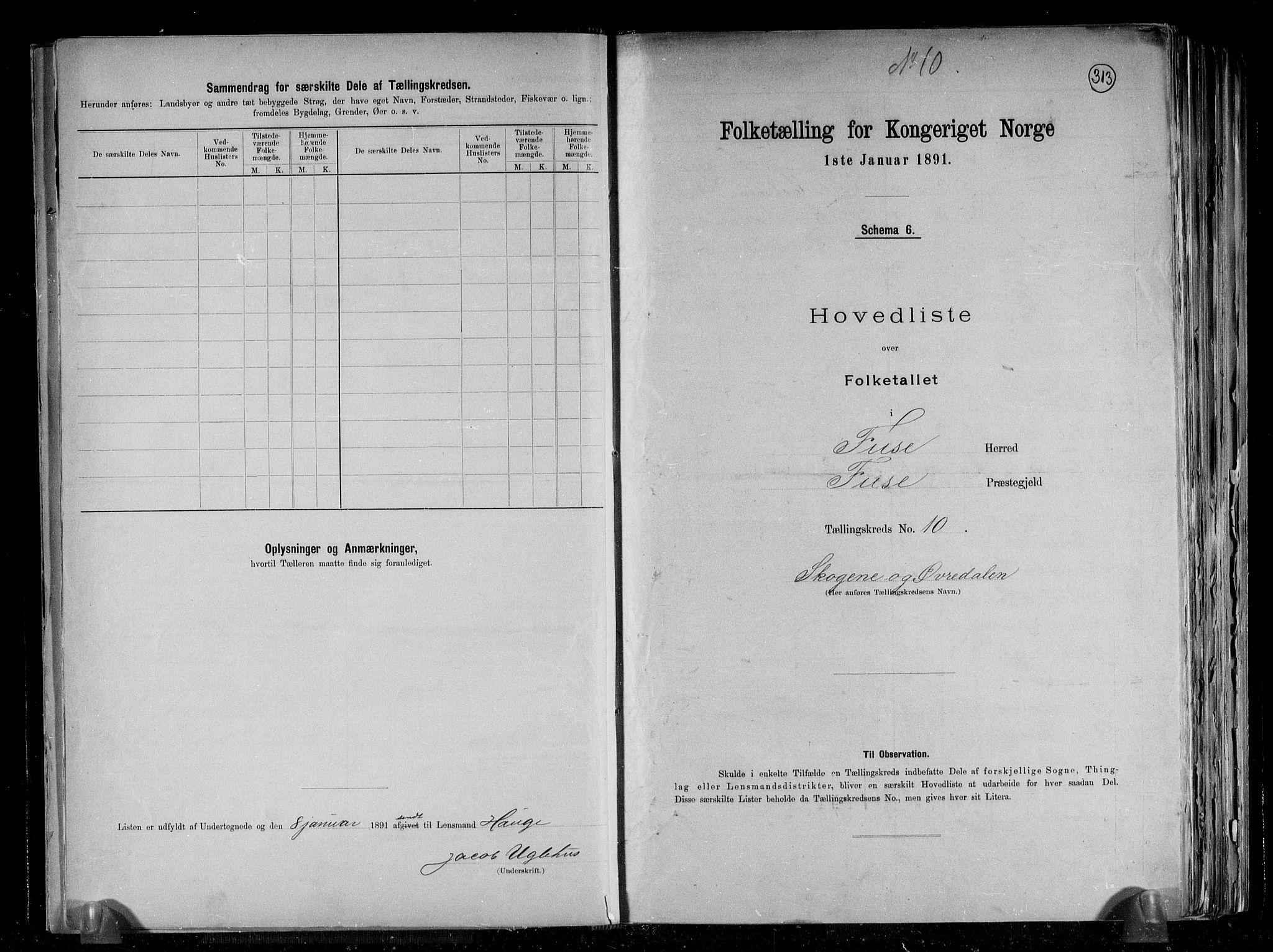 RA, Folketelling 1891 for 1241 Fusa herred, 1891, s. 22