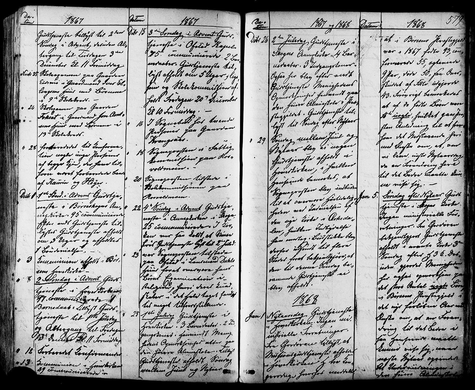 SAT, Ministerialprotokoller, klokkerbøker og fødselsregistre - Sør-Trøndelag, 665/L0772: Ministerialbok nr. 665A07, 1856-1878, s. 579