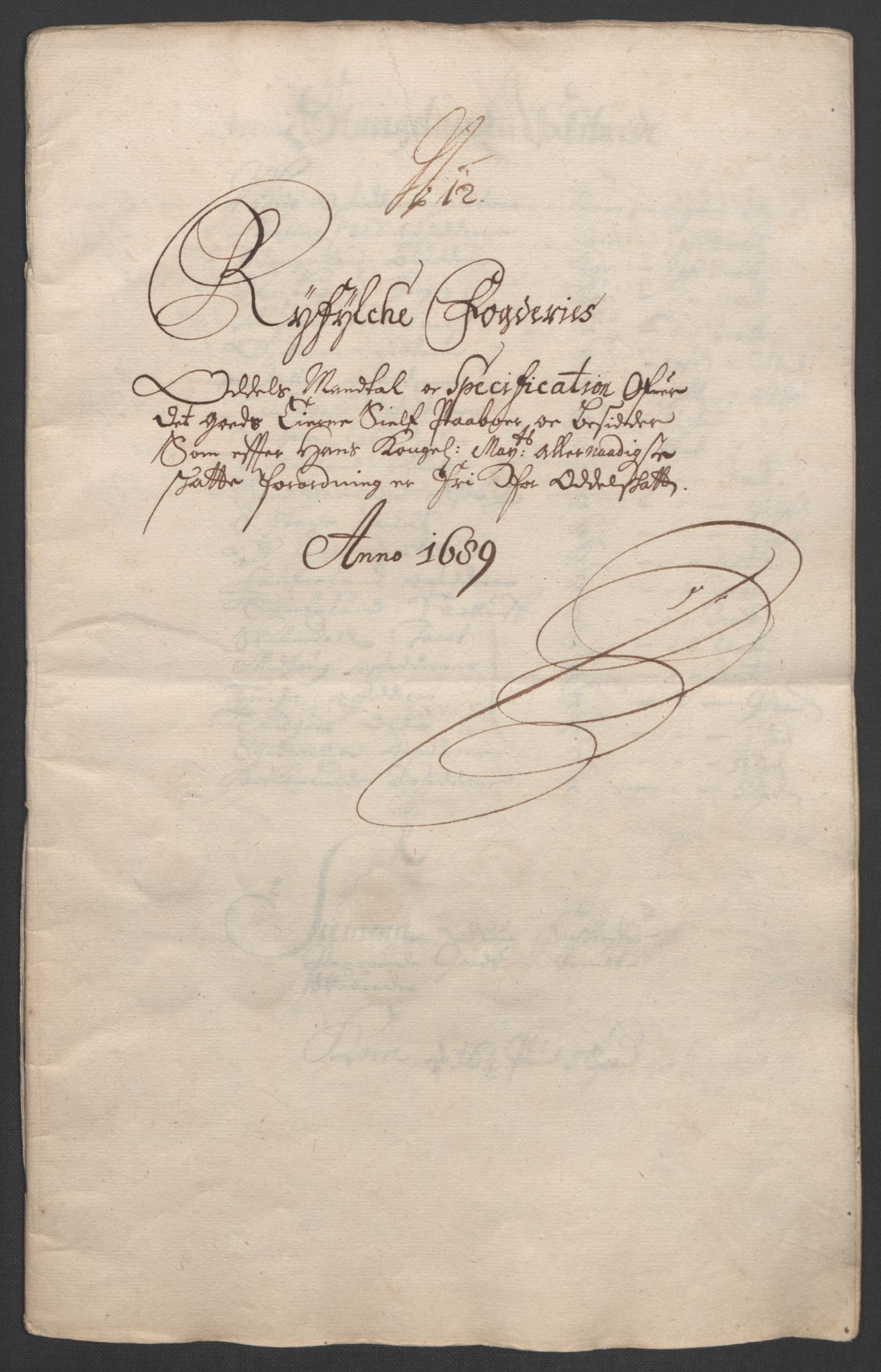 RA, Rentekammeret inntil 1814, Reviderte regnskaper, Fogderegnskap, R47/L2856: Fogderegnskap Ryfylke, 1689-1693, s. 98