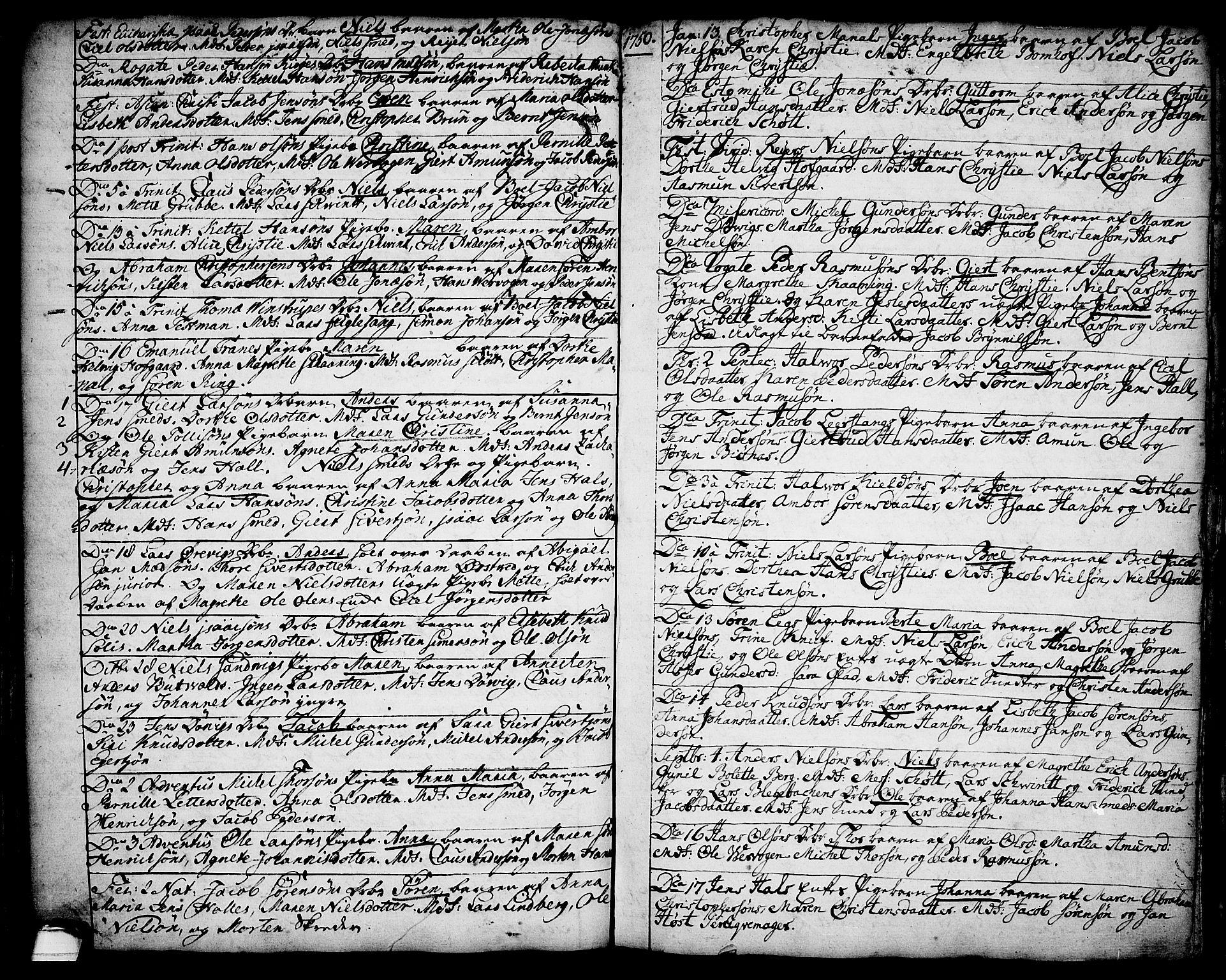 SAKO, Brevik kirkebøker, F/Fa/L0002: Ministerialbok nr. 2, 1720-1764, s. 34s