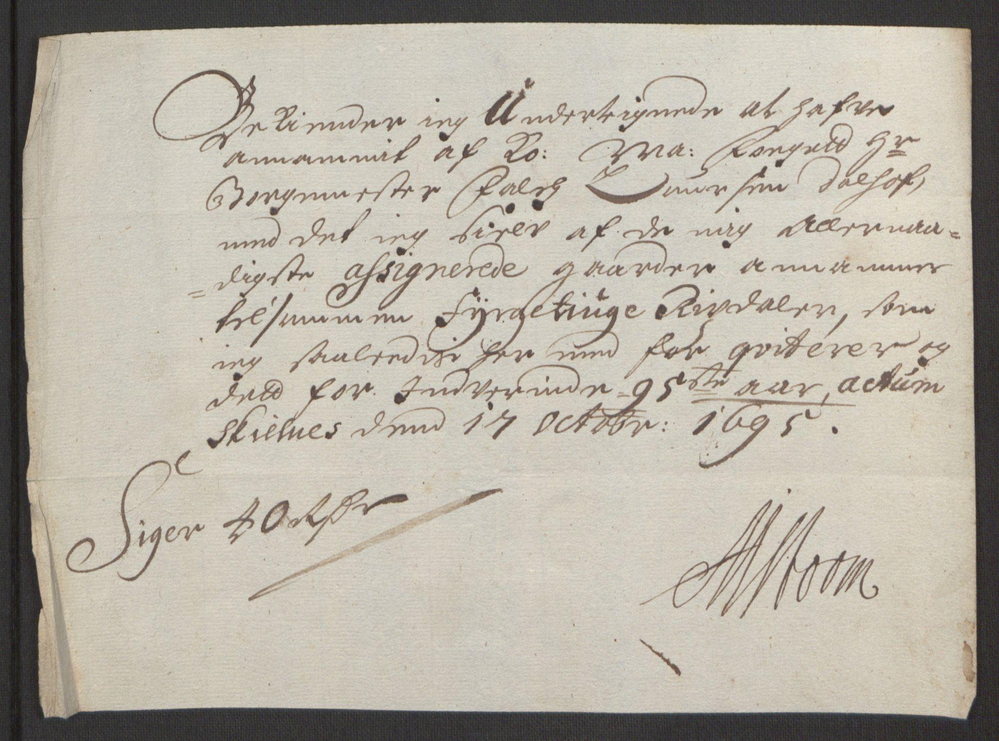 RA, Rentekammeret inntil 1814, Reviderte regnskaper, Fogderegnskap, R48/L2976: Fogderegnskap Sunnhordland og Hardanger, 1695-1696, s. 108