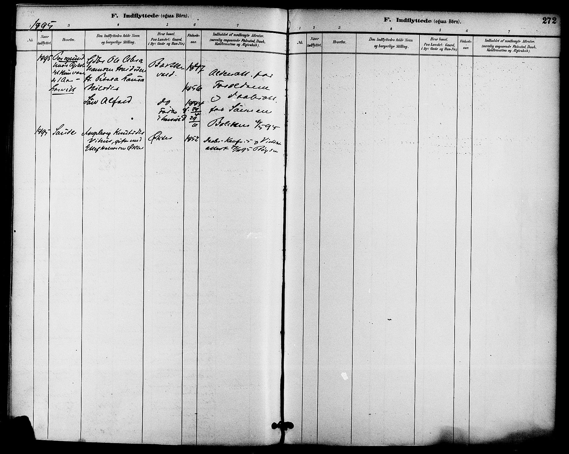SAKO, Gjerpen kirkebøker, F/Fa/L0010: Ministerialbok nr. 10, 1886-1895, s. 272