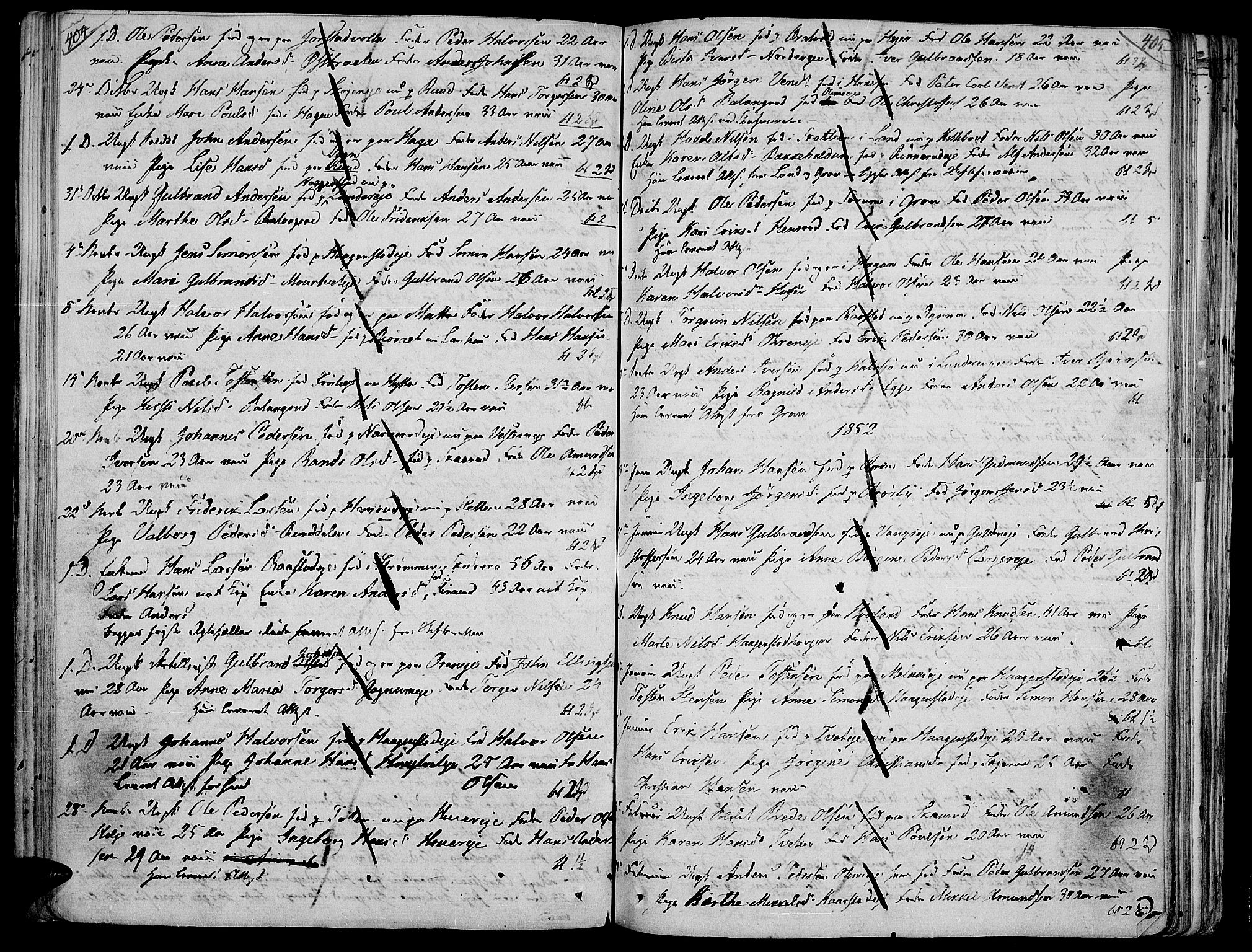 SAH, Jevnaker prestekontor, Ministerialbok nr. 4, 1800-1861, s. 404-405