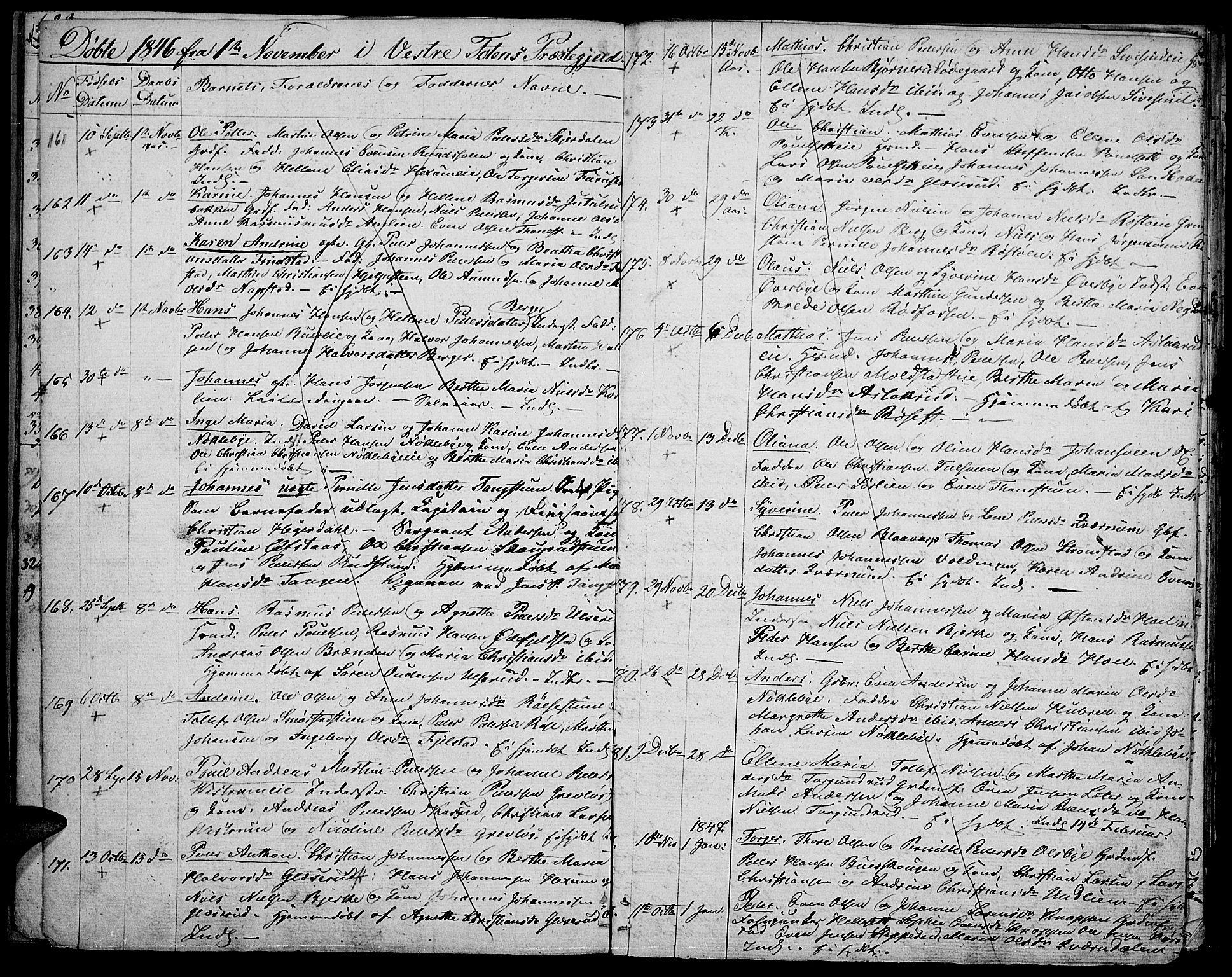 SAH, Vestre Toten prestekontor, Klokkerbok nr. 3, 1846-1854, s. 10