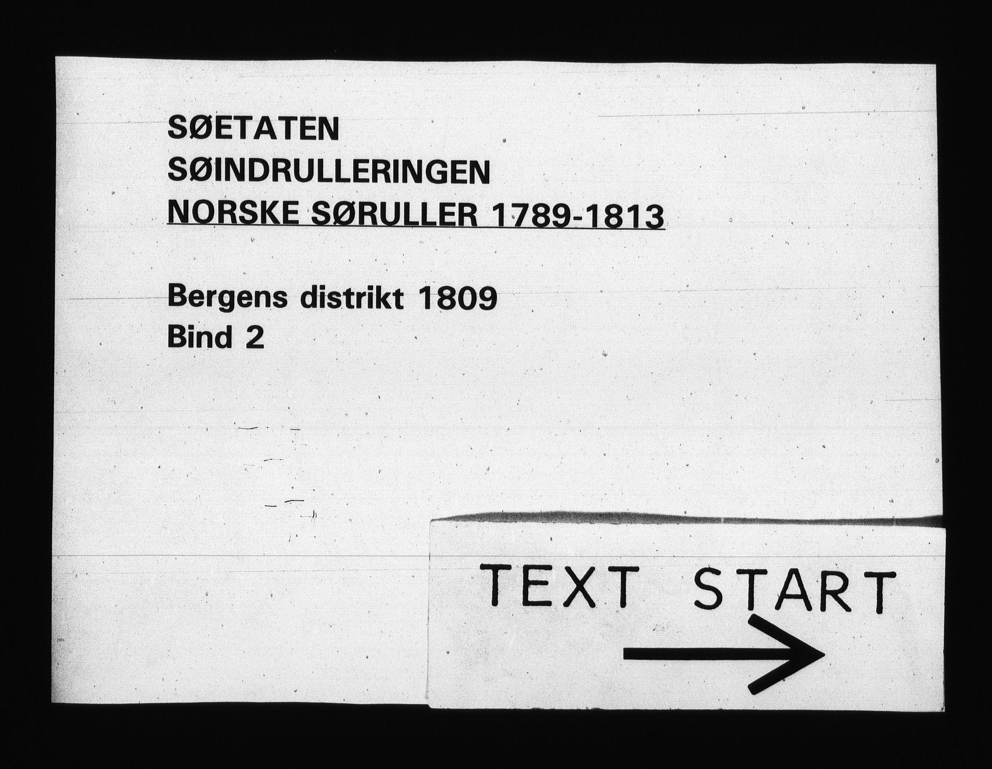 RA, Sjøetaten, F/L0249: Bergen distrikt, bind 2, 1809