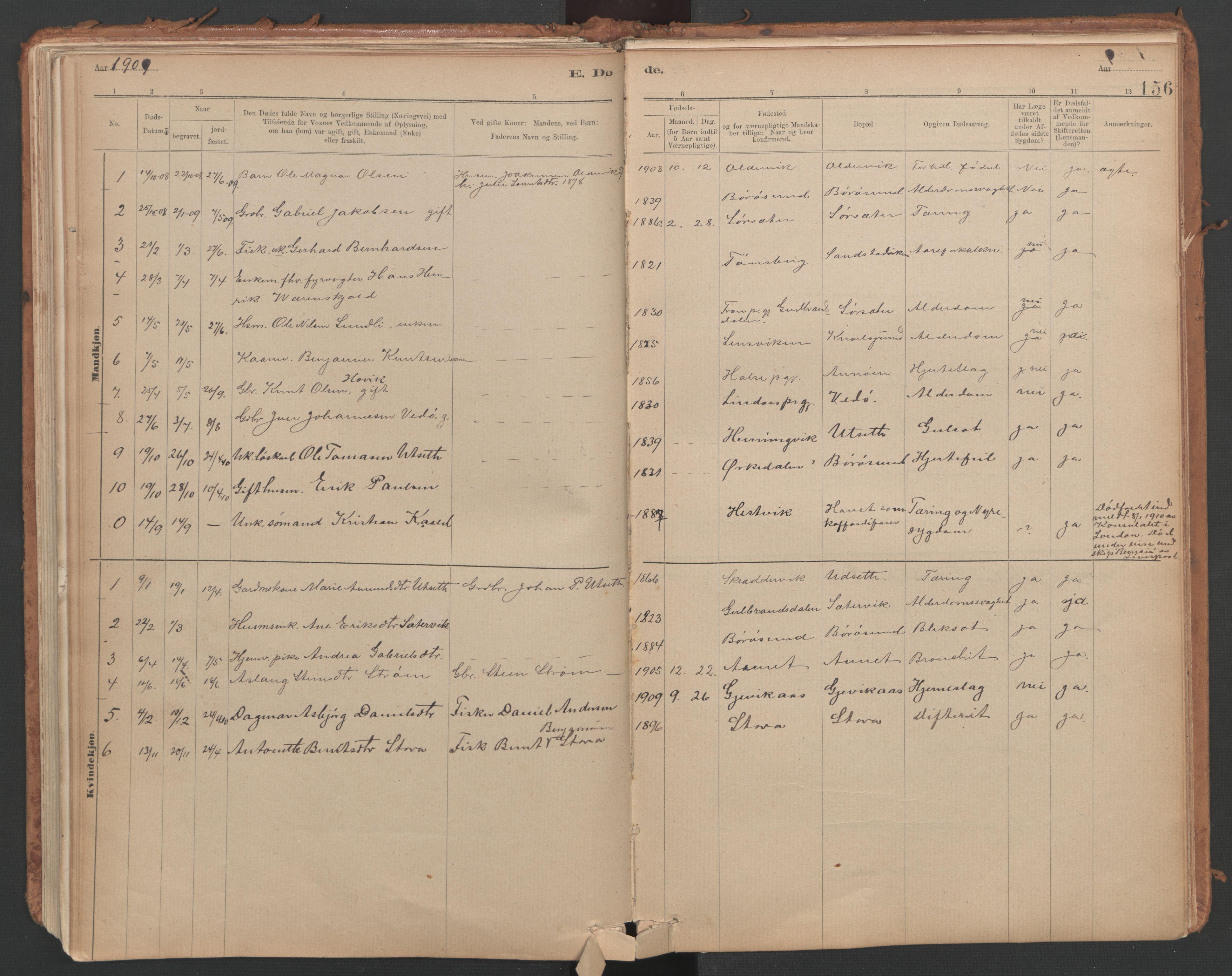 SAT, Ministerialprotokoller, klokkerbøker og fødselsregistre - Sør-Trøndelag, 639/L0572: Ministerialbok nr. 639A01, 1890-1920, s. 156