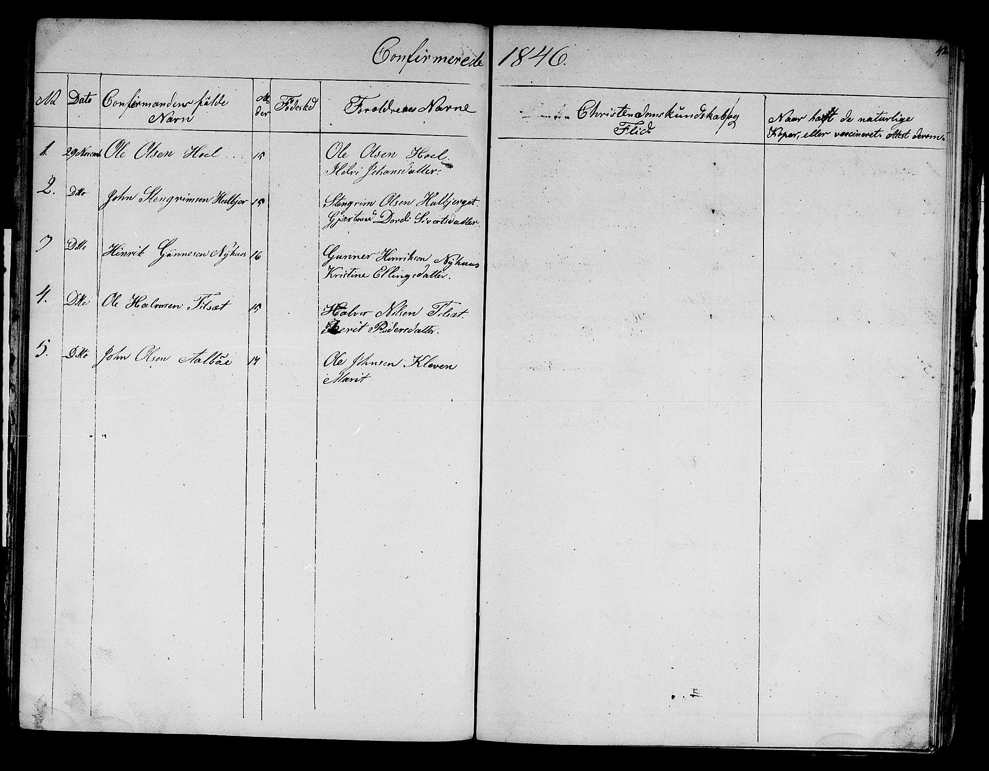 SAT, Ministerialprotokoller, klokkerbøker og fødselsregistre - Sør-Trøndelag, 679/L0922: Klokkerbok nr. 679C02, 1845-1851, s. 42