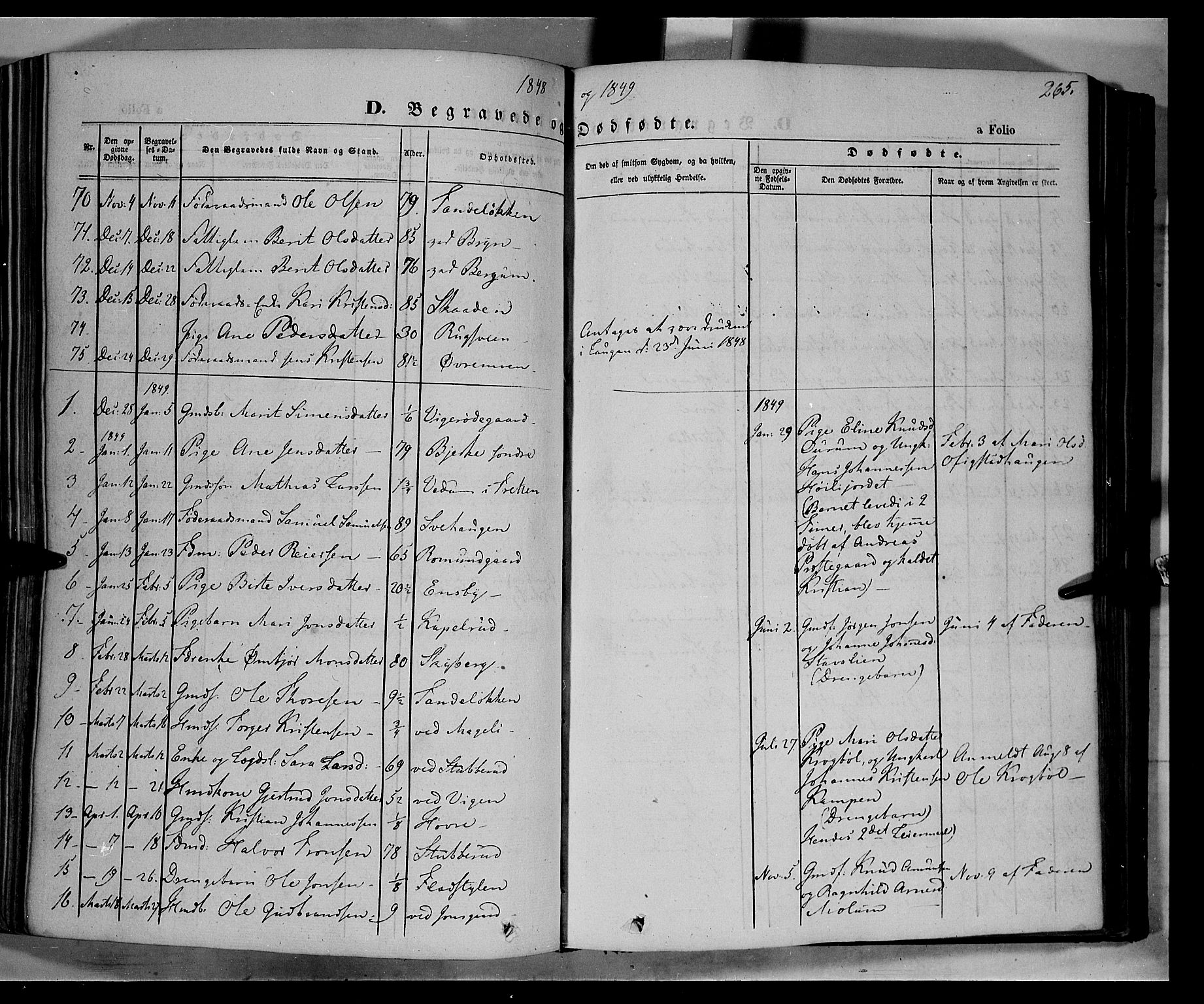 SAH, Øyer prestekontor, Ministerialbok nr. 5, 1842-1857, s. 265