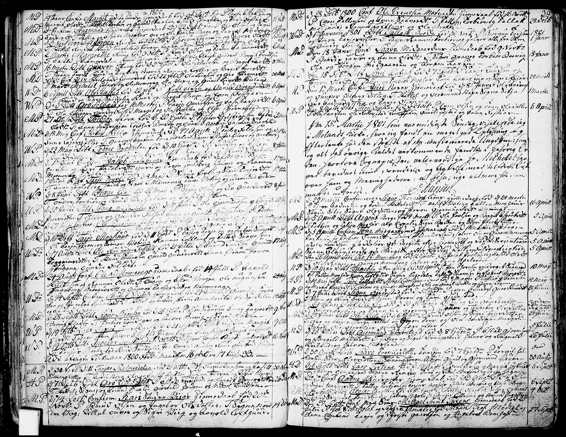 SAKO, Fyresdal kirkebøker, F/Fa/L0002: Ministerialbok nr. I 2, 1769-1814, s. 39